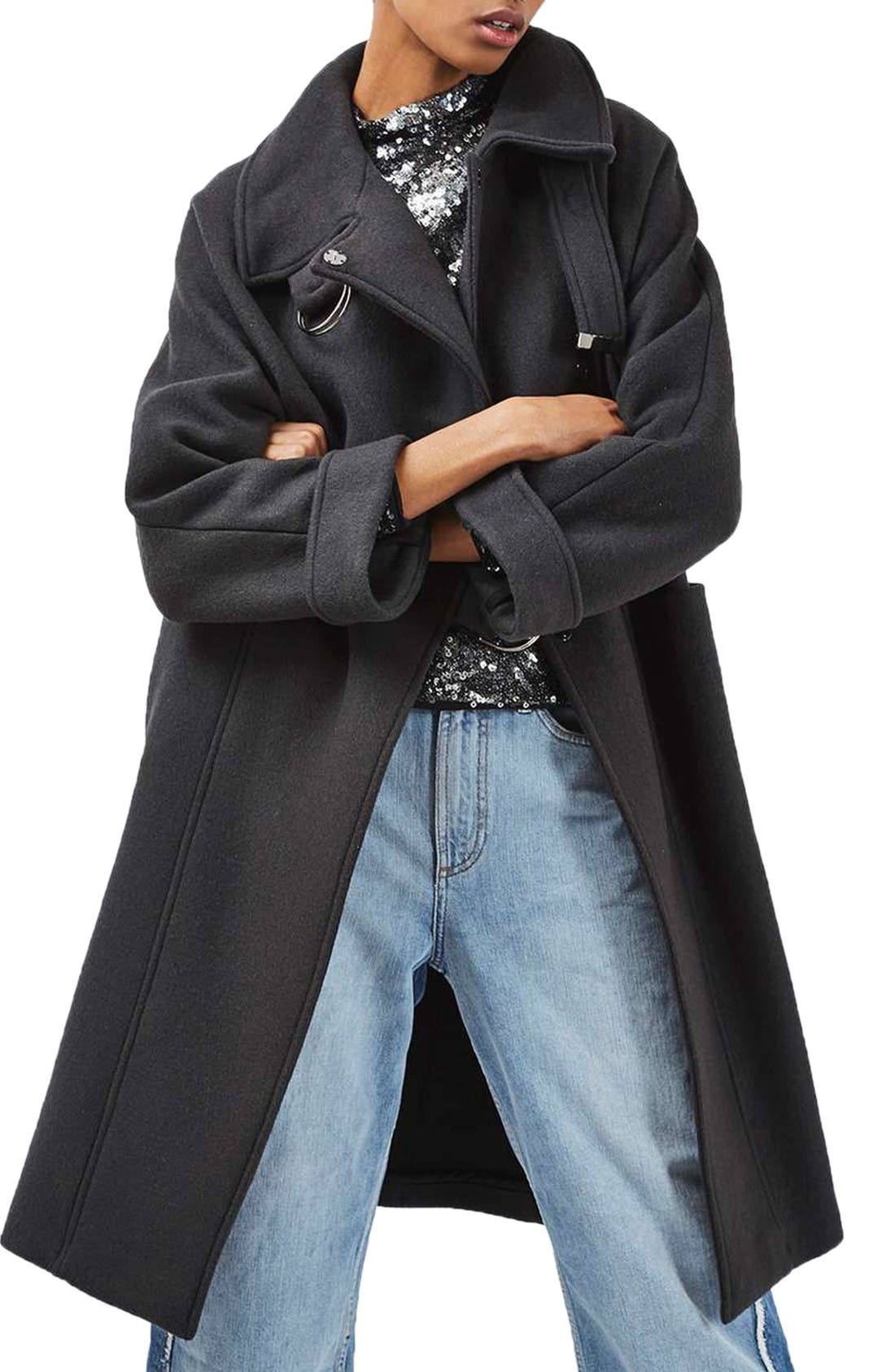 Main Image - Topshop Wool Blend Coat