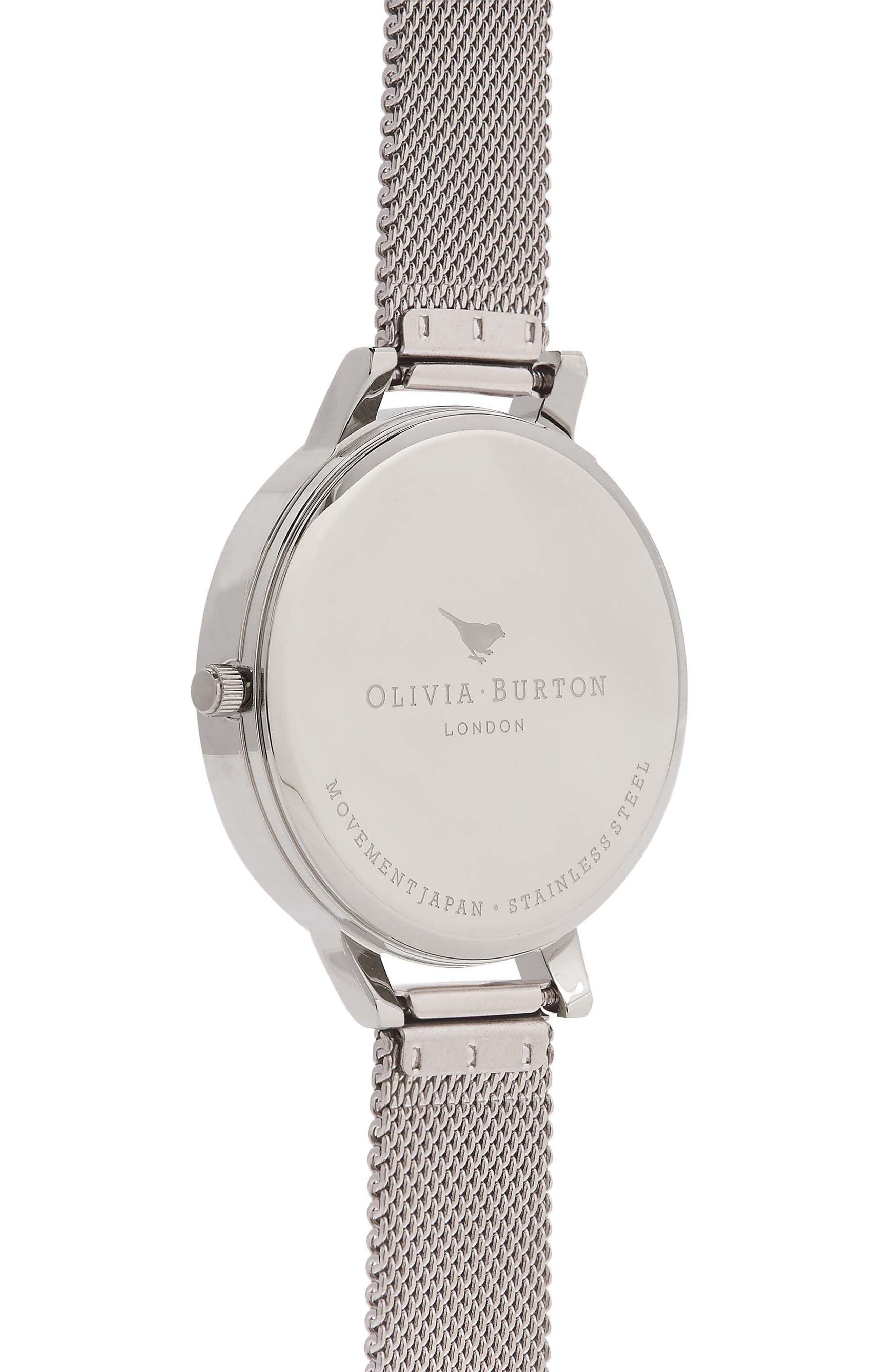 Alternate Image 2  - Olivia Burton Mesh Strap Watch, 38mm