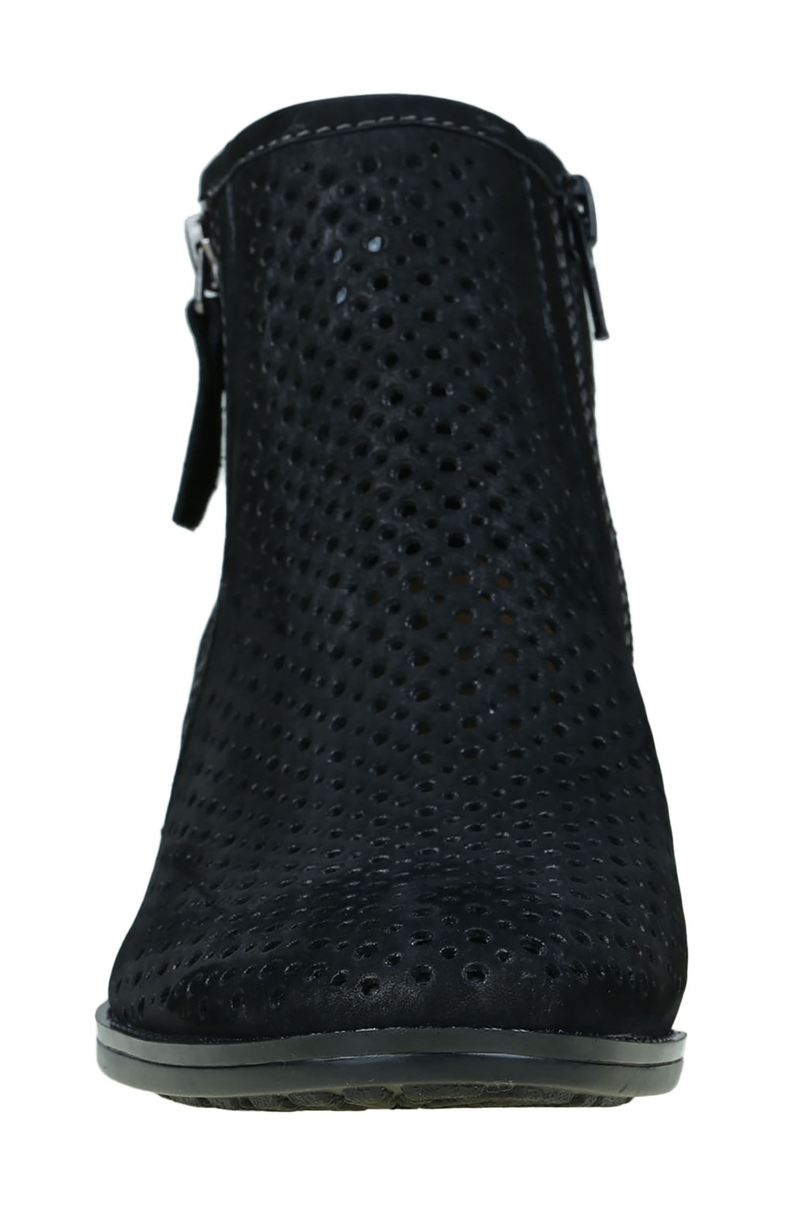 Pineberry Bootie,                             Alternate thumbnail 3, color,                             Black Soft Buck