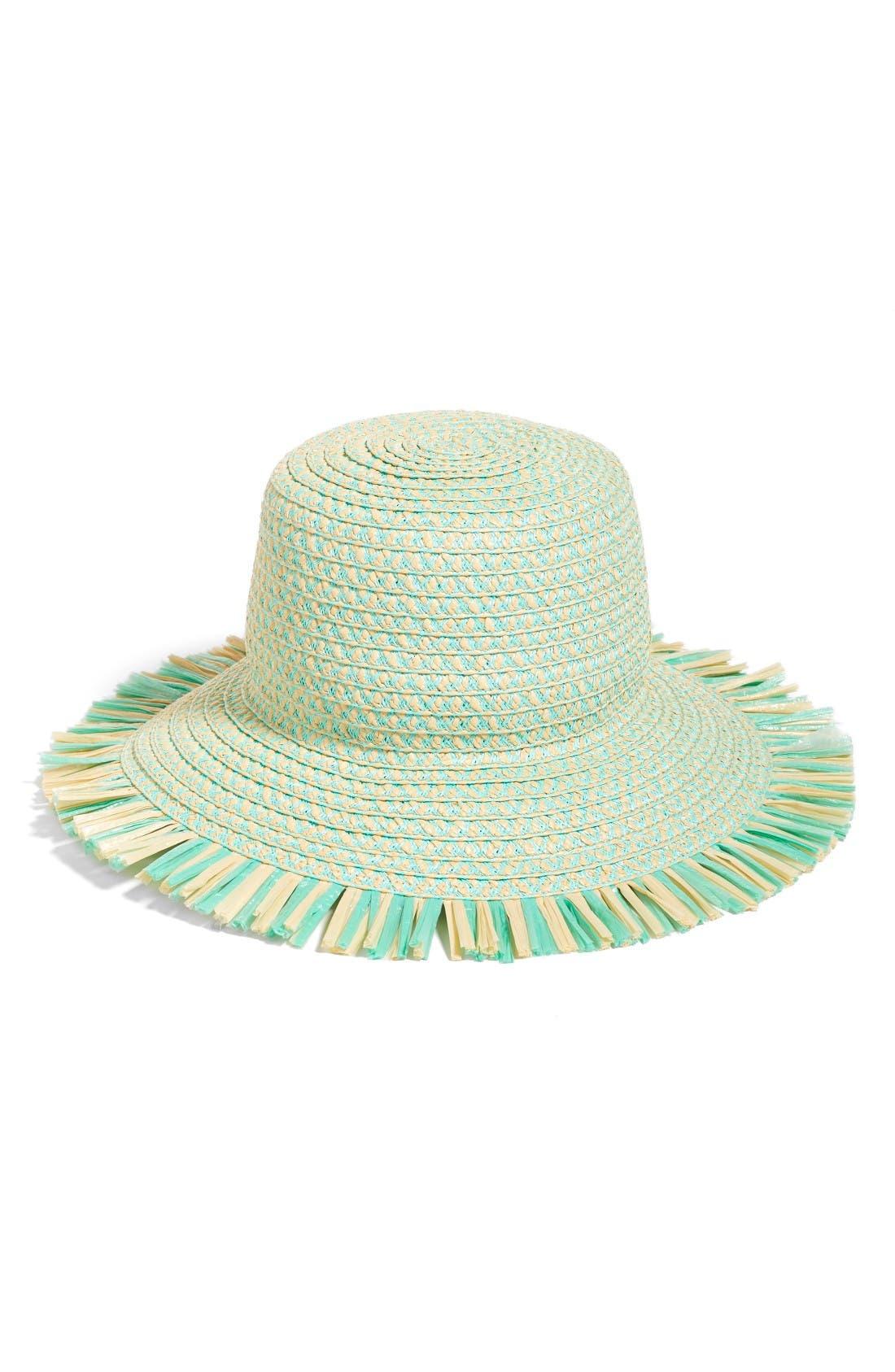 'Tiki' Bucket Hat,                             Main thumbnail 1, color,                             Mint Mix