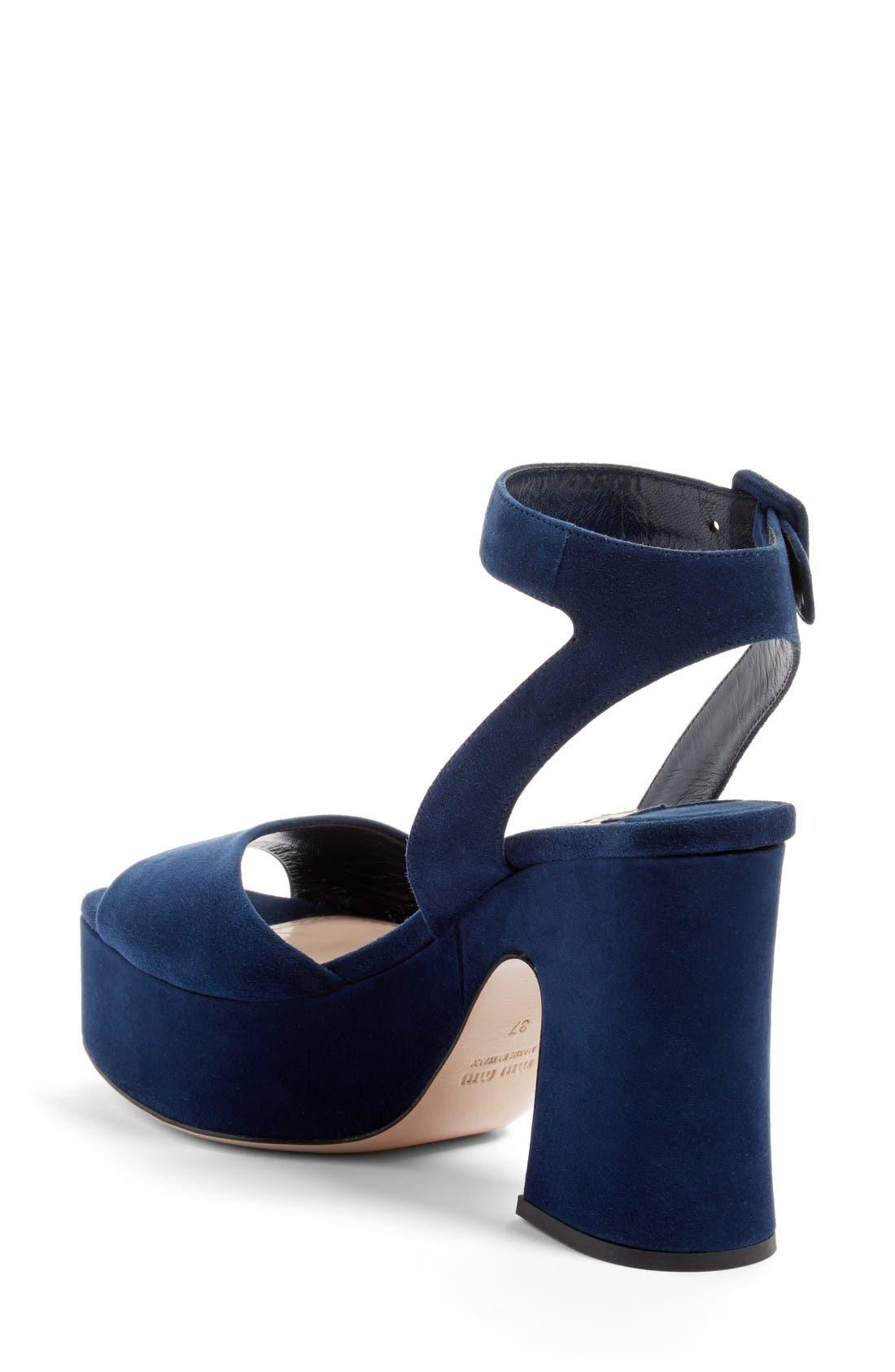 Alternate Image 2  - Miu Miu Platform Strap Sandal (Women)