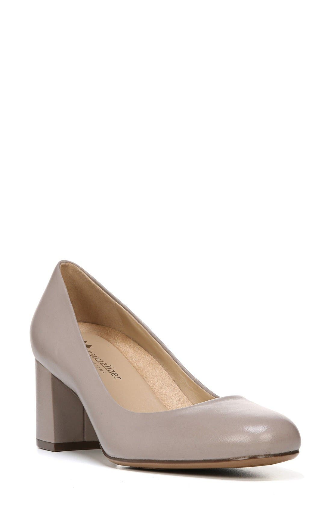 Whitney Pump,                         Main,                         color, Dove Leather