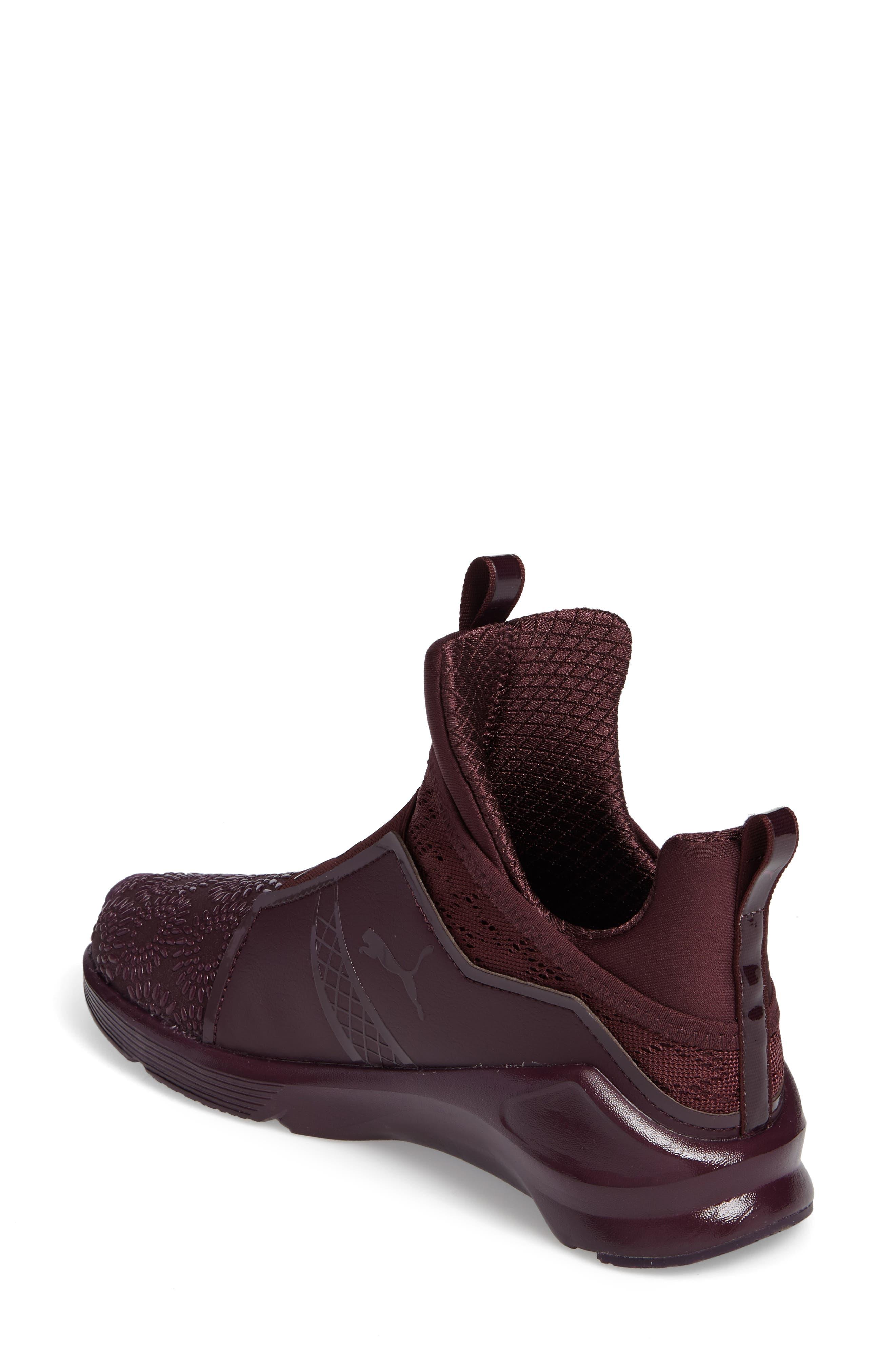 Fierce KRM High Top Sneaker,                             Alternate thumbnail 2, color,                             Red Plum