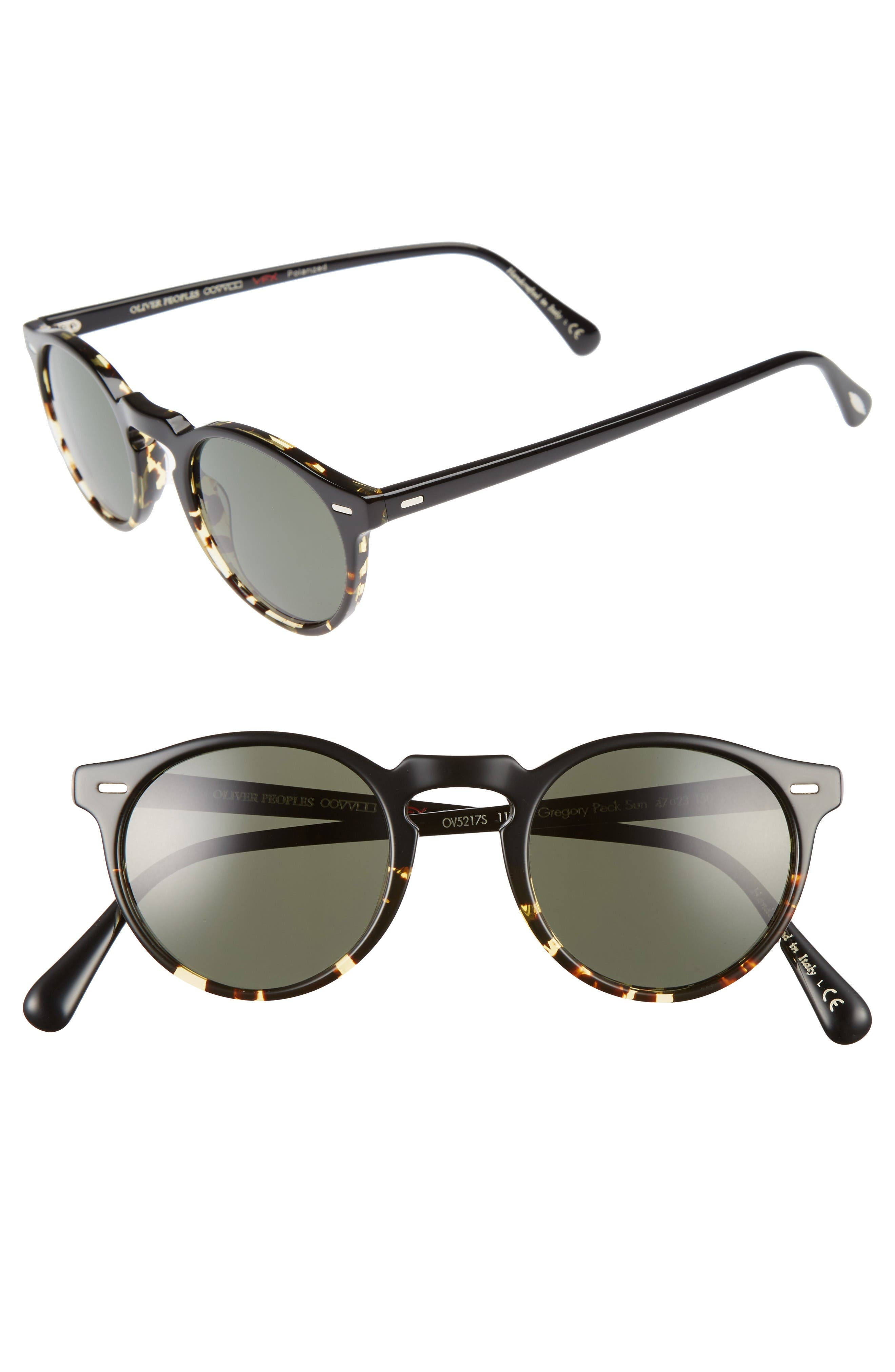 Oliver Peoples Gregory Peck 47mm Retro Sunglasses