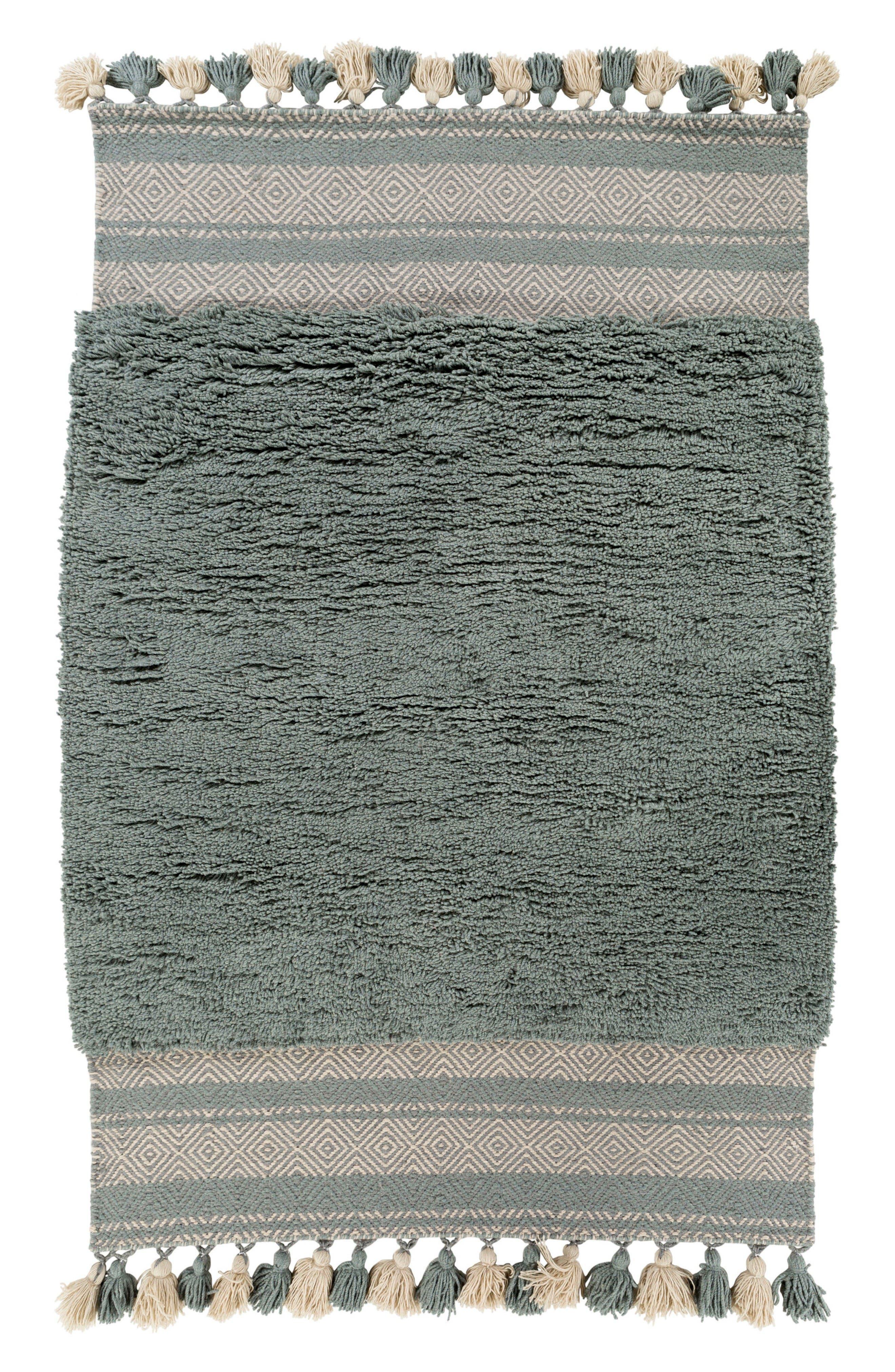 Korva Modern Handwoven Rug,                             Main thumbnail 1, color,                             Teal