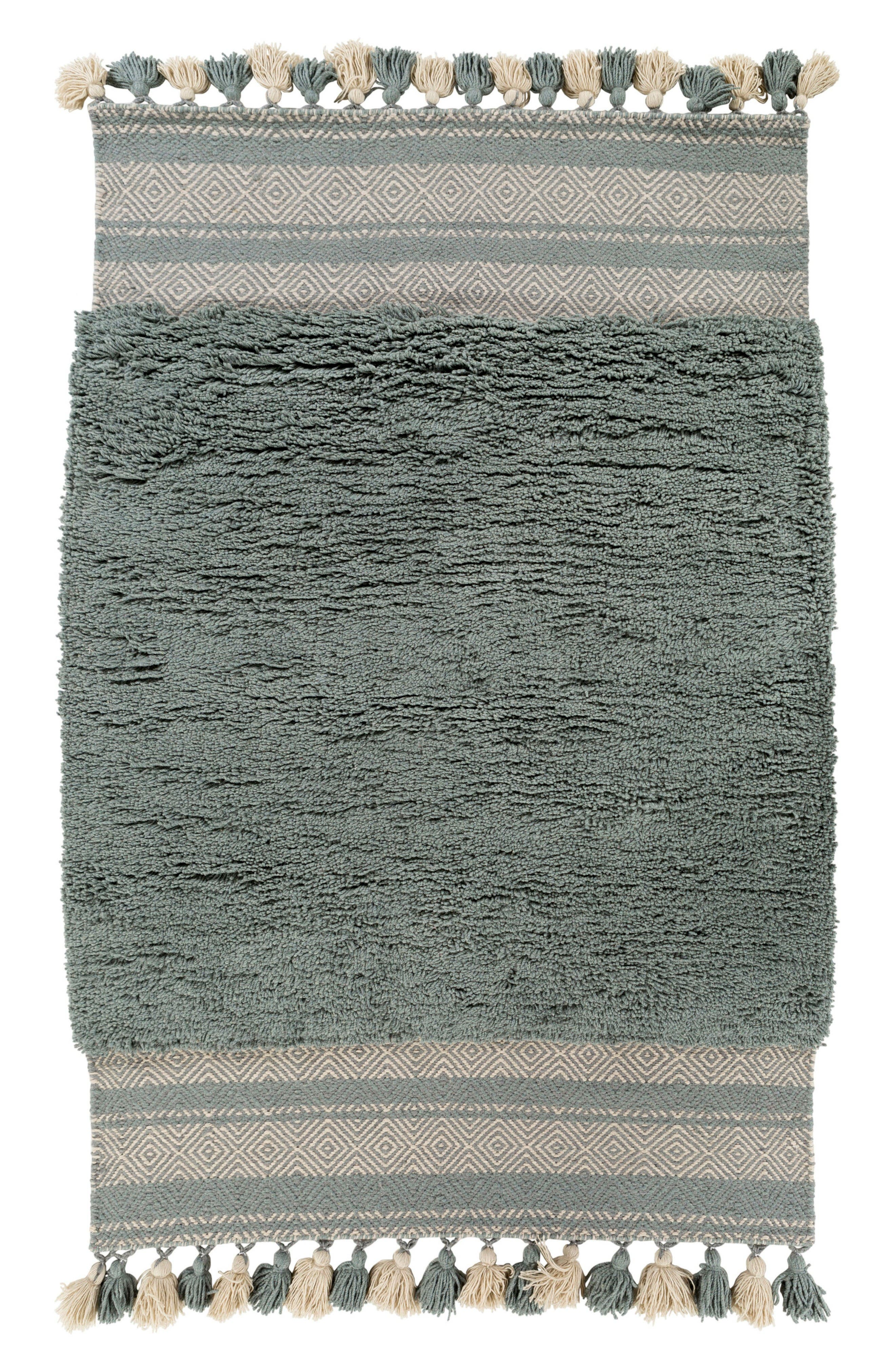 Korva Modern Handwoven Rug,                         Main,                         color, Teal