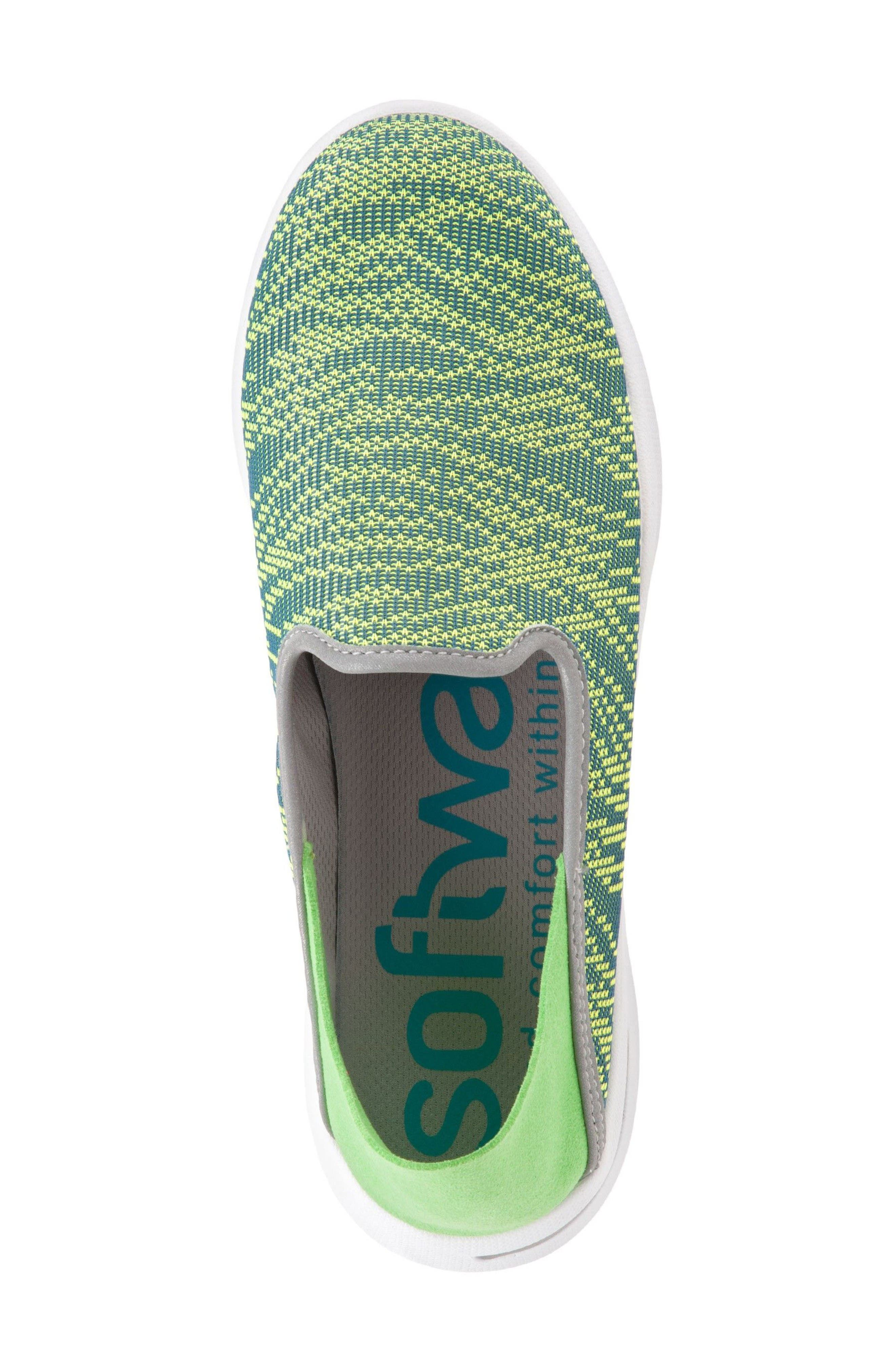 Convertible Slip-On Sneaker,                             Alternate thumbnail 3, color,                             Green Fabric