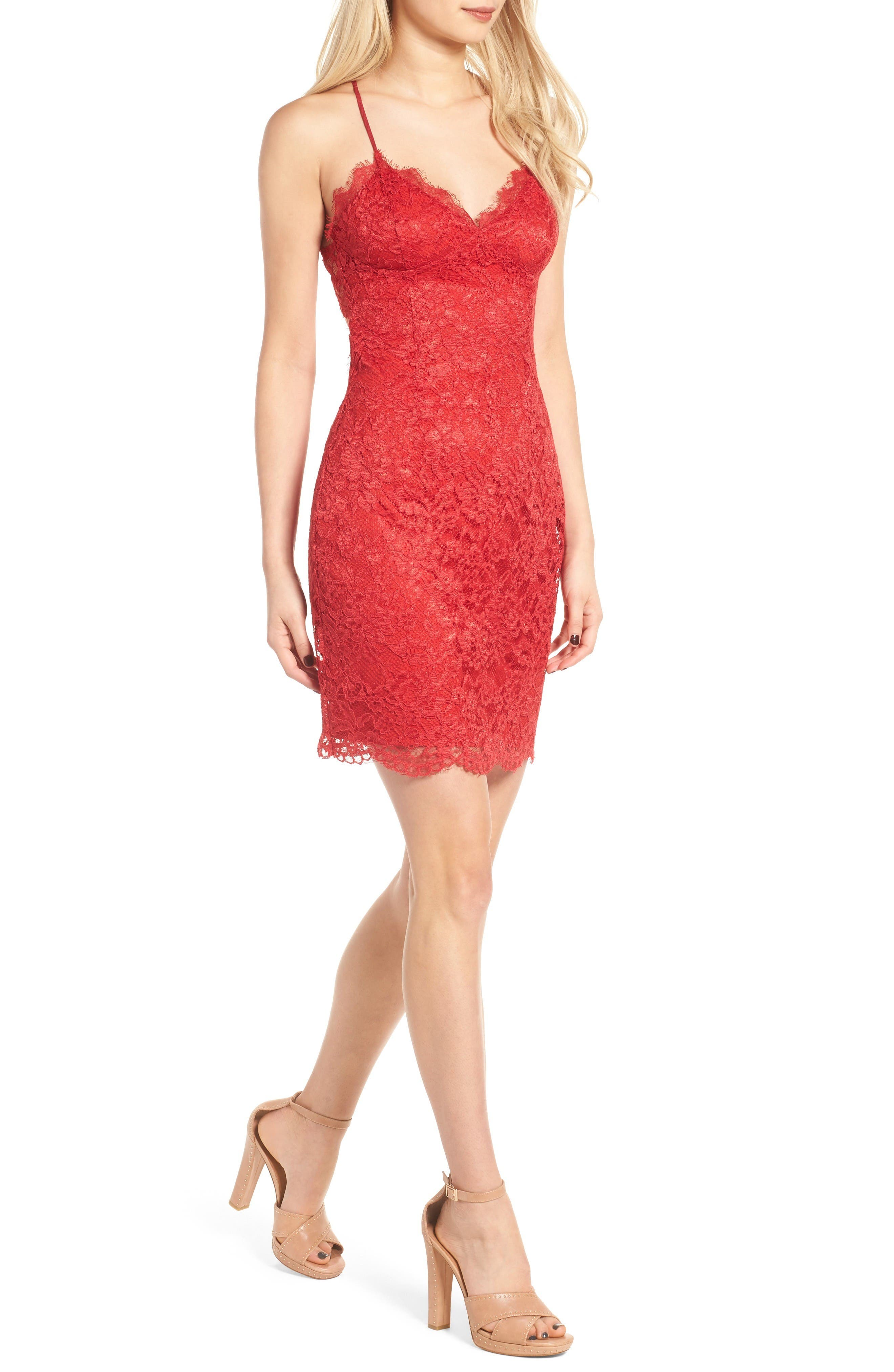 Alternate Image 1 Selected - NBD All Me Lace Body-Con Dress