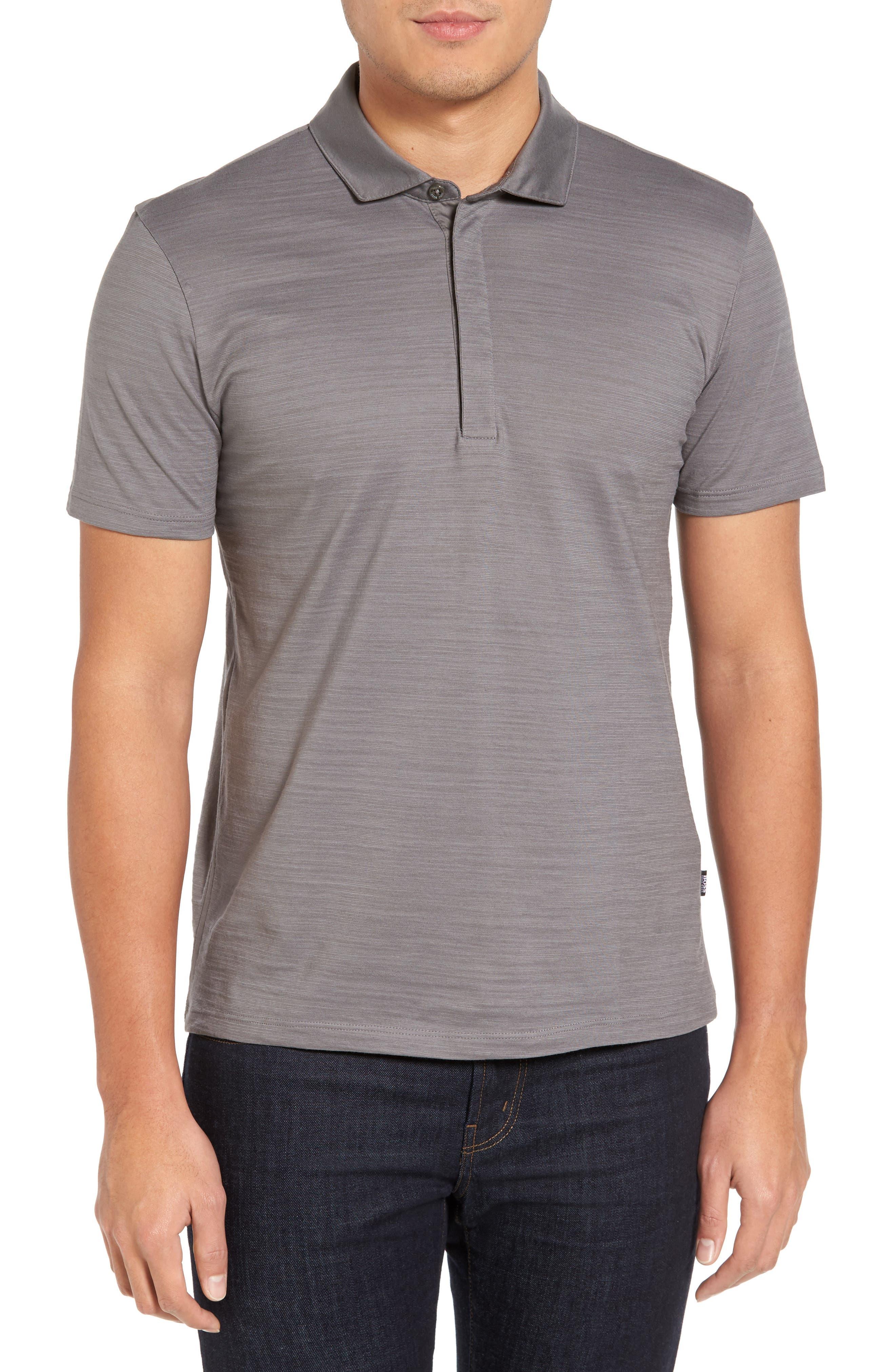 'Pressler' Regular Fit Polo,                         Main,                         color, Grey