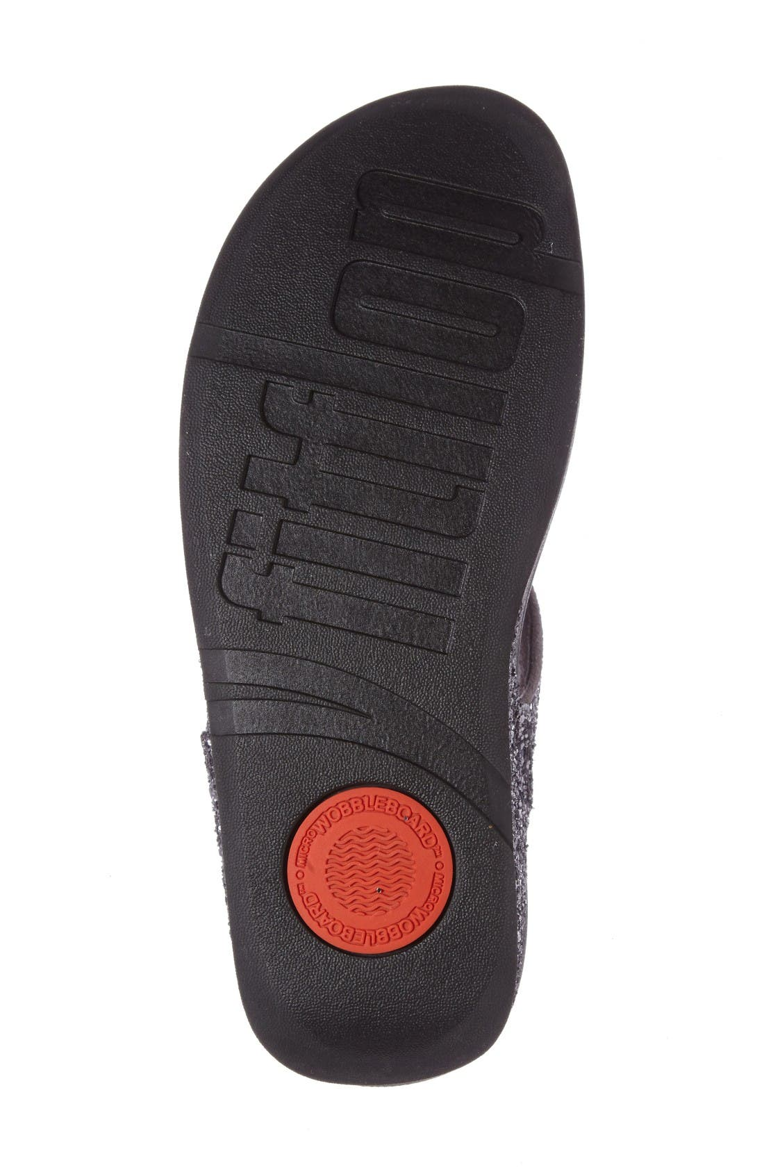 Glitterball<sup>™</sup> Thong Sandal,                             Alternate thumbnail 5, color,                             Pewter Fabric