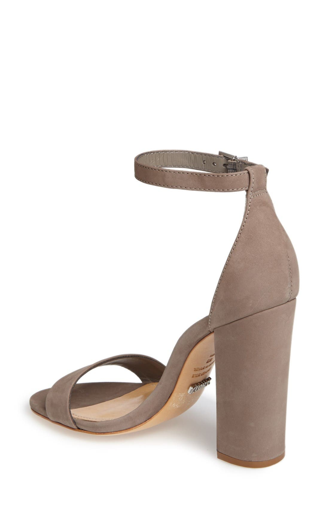 Enida Sandal,                             Alternate thumbnail 2, color,                             Mouse Nubuck Leather