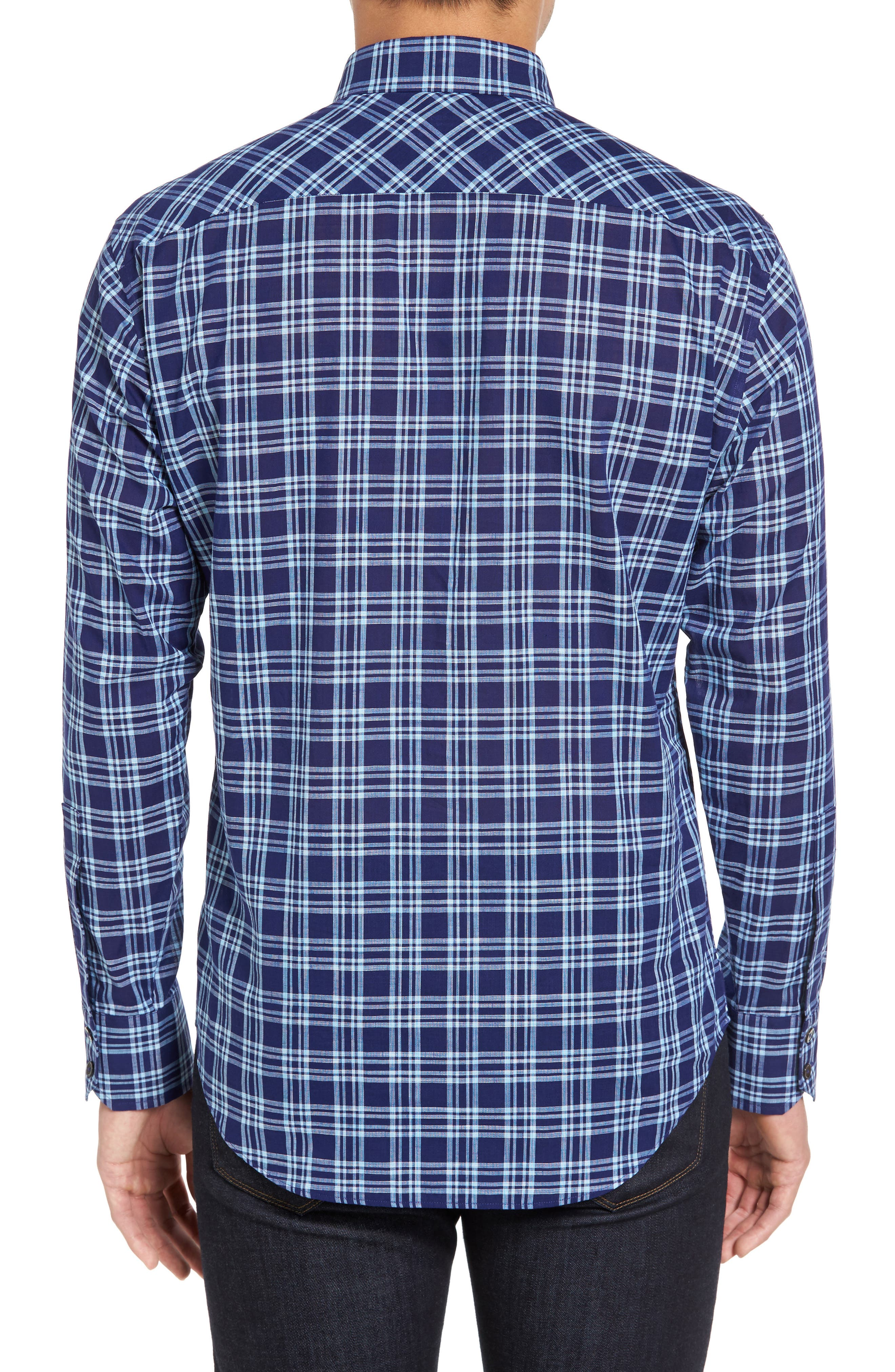 Alternate Image 2  - Zachary Prell Leventhal Trim Fit Plaid Sport Shirt