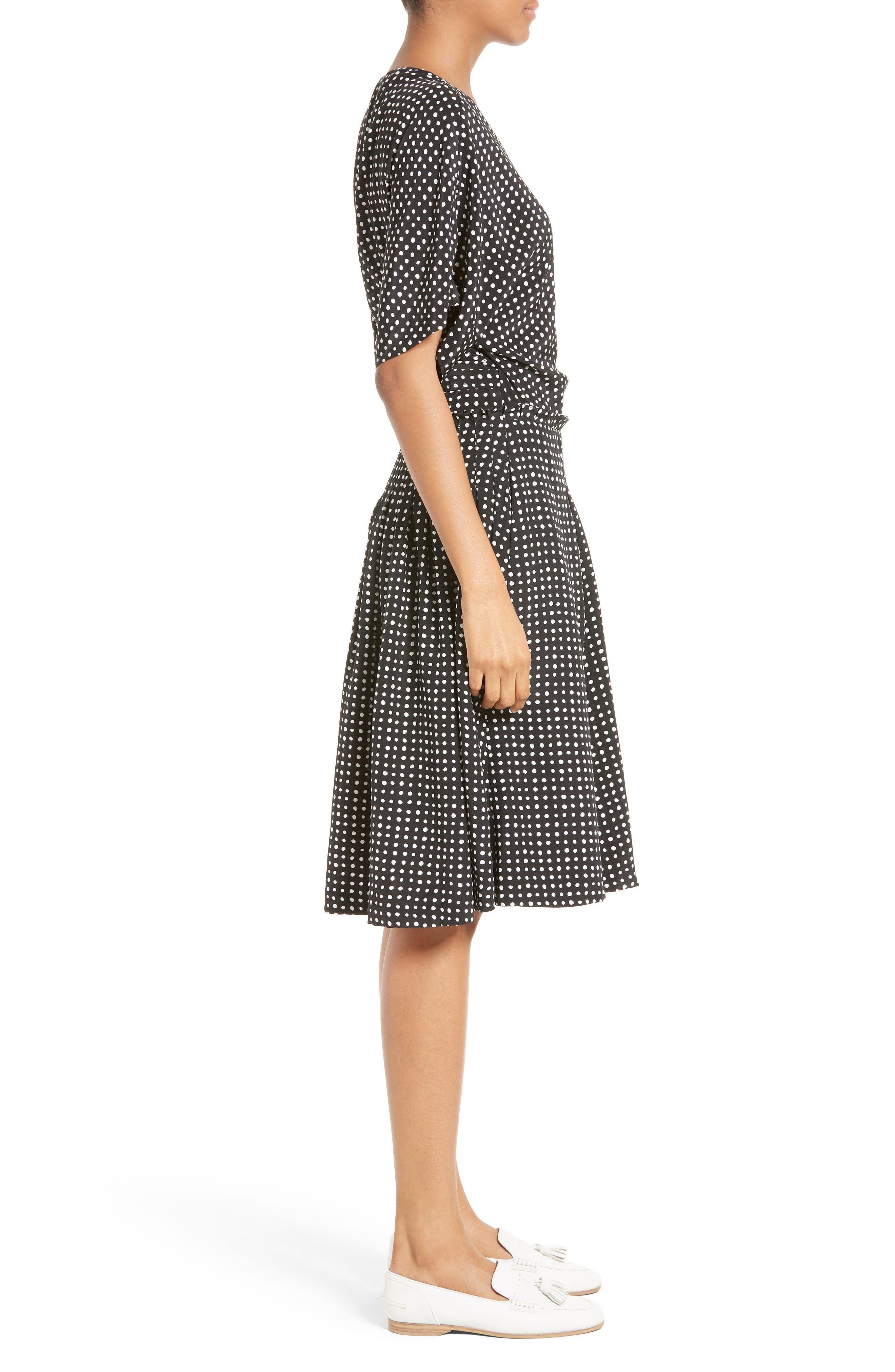 Alternate Image 3  - Diane von Furstenberg Polka Dot Silk D-Ring Wrap Dress