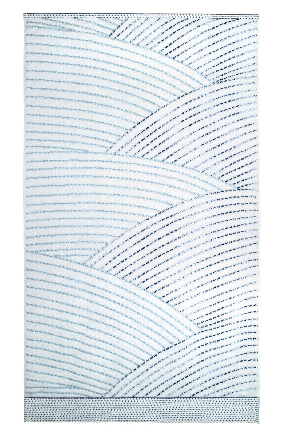 Sazid Bath Towel,                         Main,                         color, Indigo/ Slate