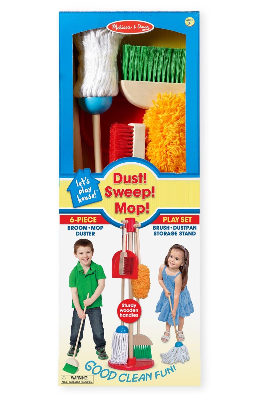 Dust, Sweep & Mop Toy Set,                         Main,                         color, No Color