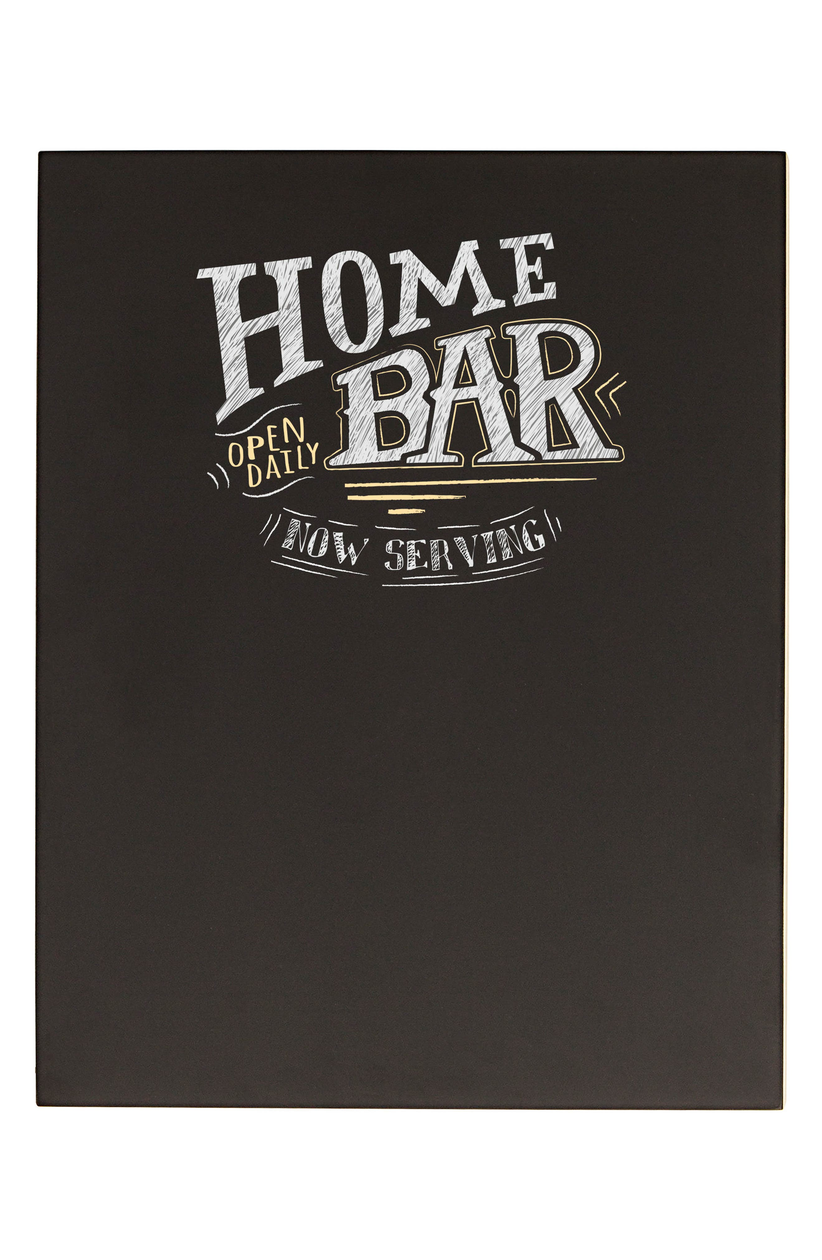 Bar Menu Chalkboard,                         Main,                         color, Black