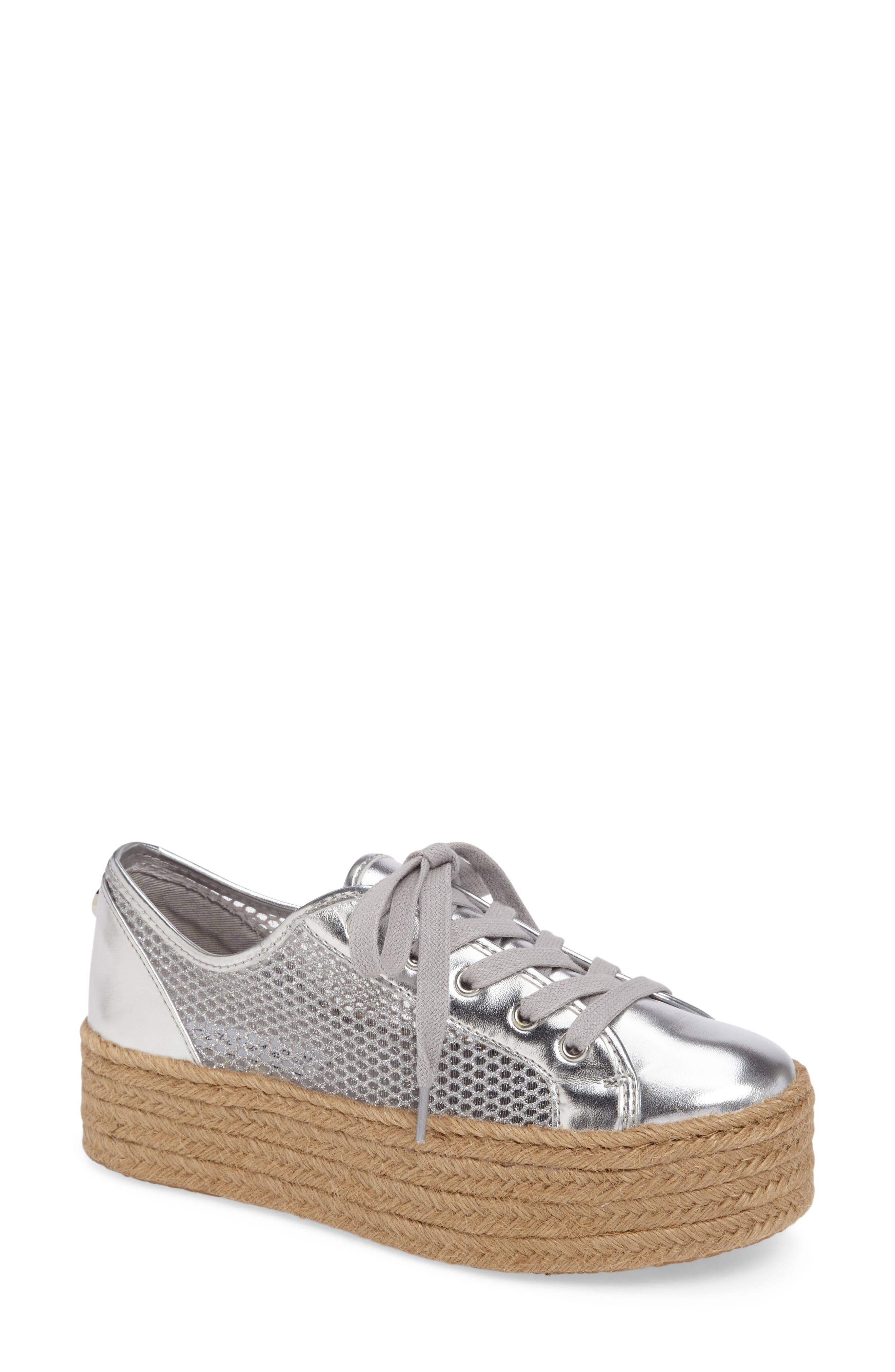 Mars Platform Sneaker,                             Main thumbnail 1, color,                             Silver