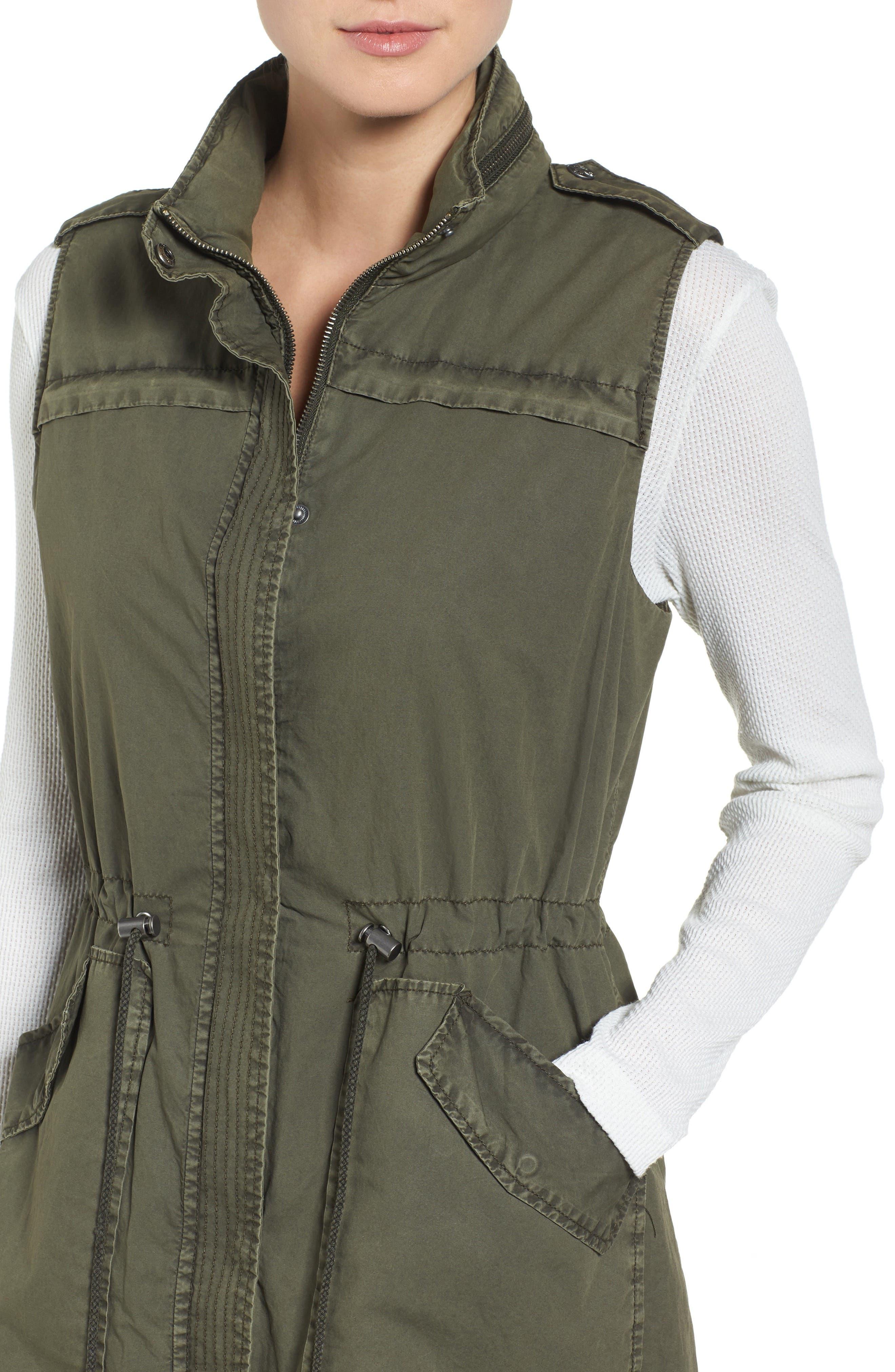 Levi's Parachute Cotton Vest,                             Alternate thumbnail 5, color,                             Army Green