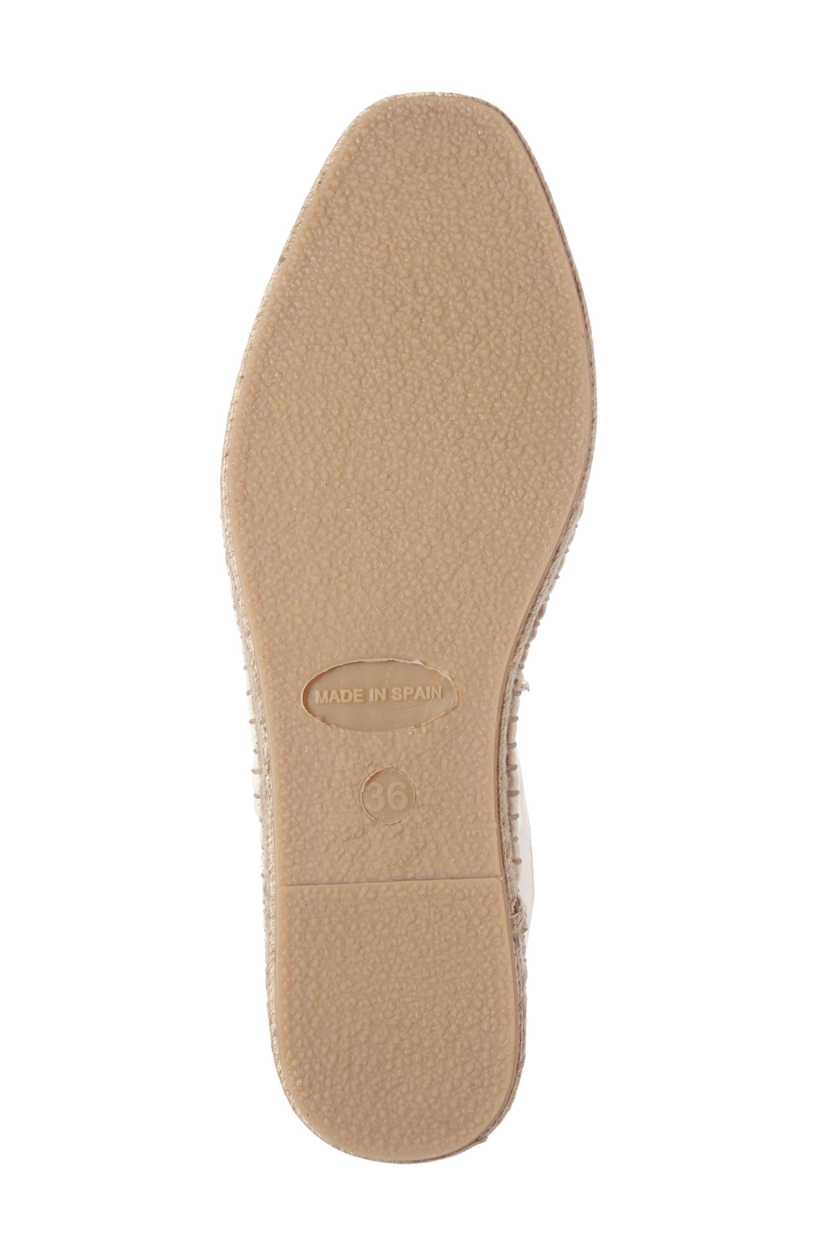 Ivon Espadrille Sneaker,                             Alternate thumbnail 4, color,                             Ecru Fabric