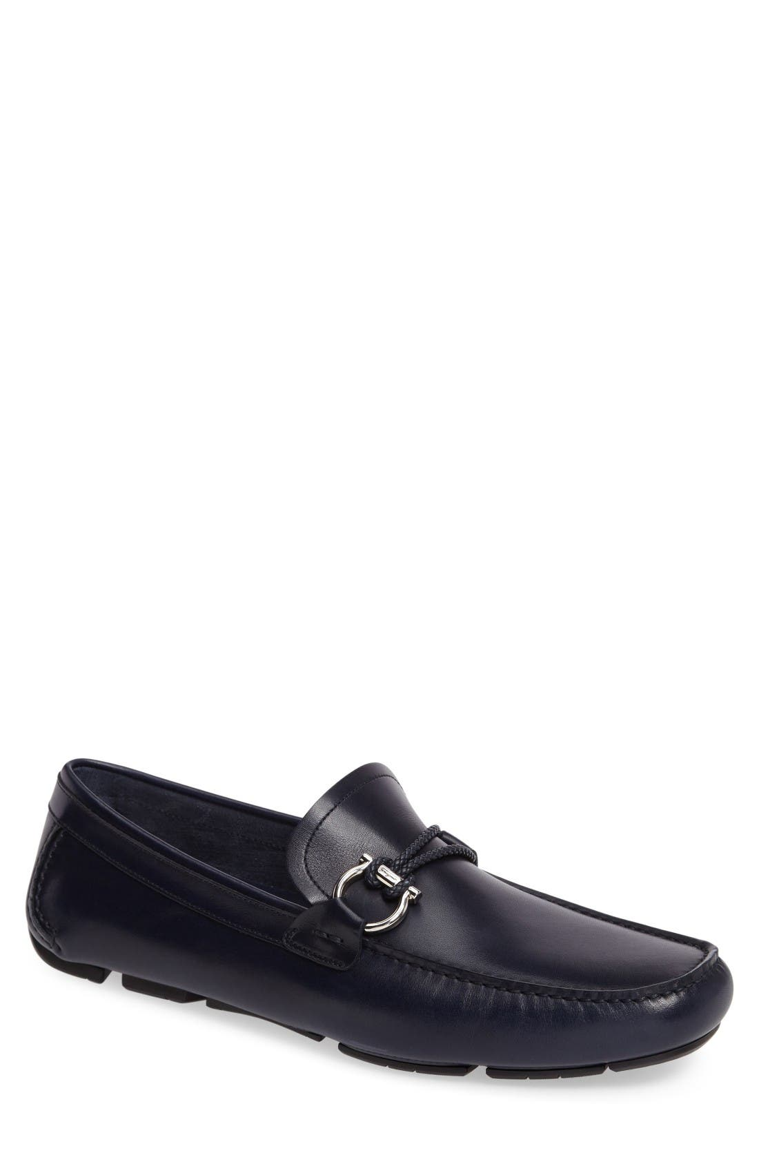 Alternate Image 1 Selected - Salvatore Ferragamo Front Braided Bit Driving Shoe (Men)