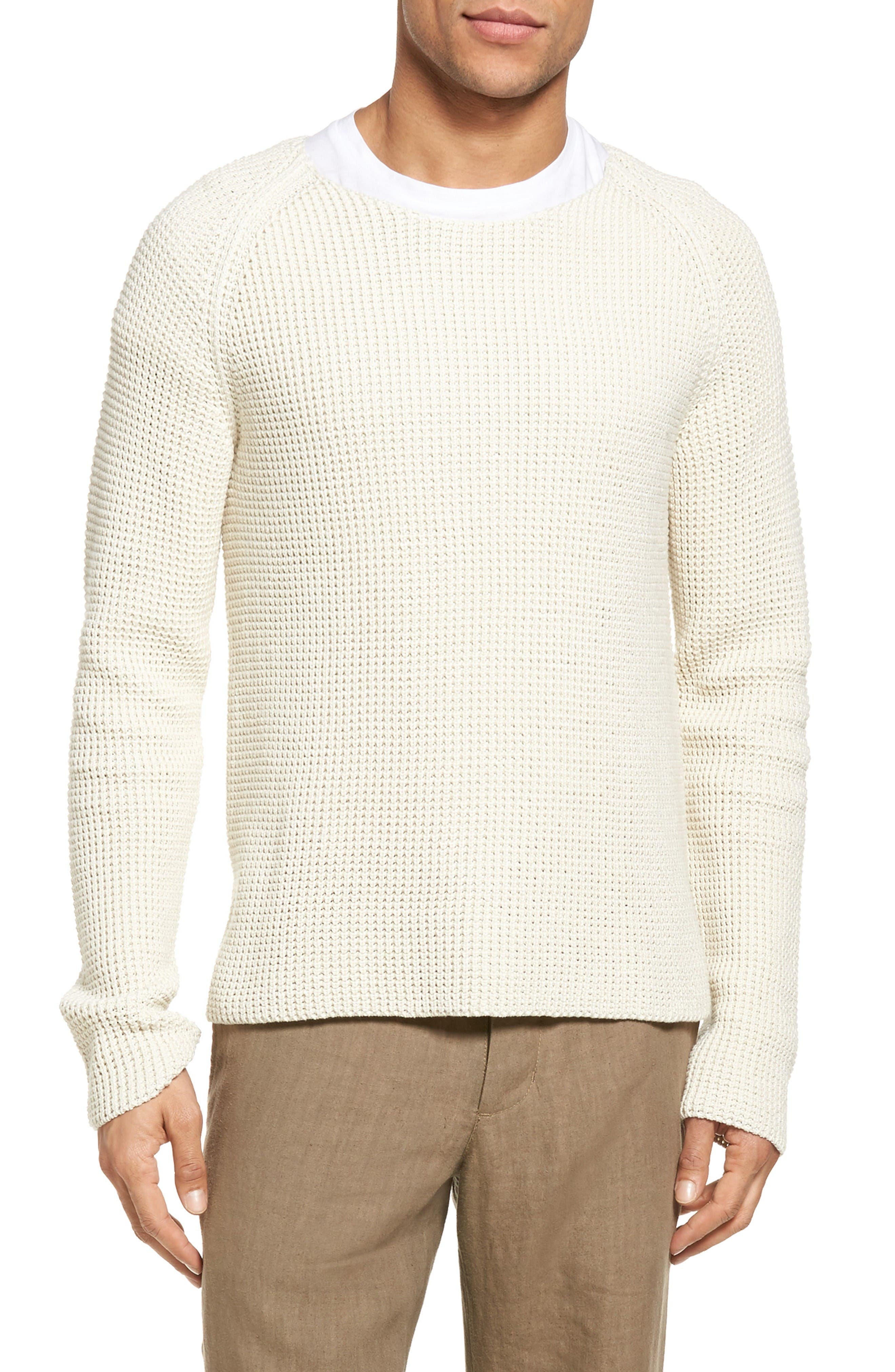 VINCE Thermal Stitch Cotton Pullover