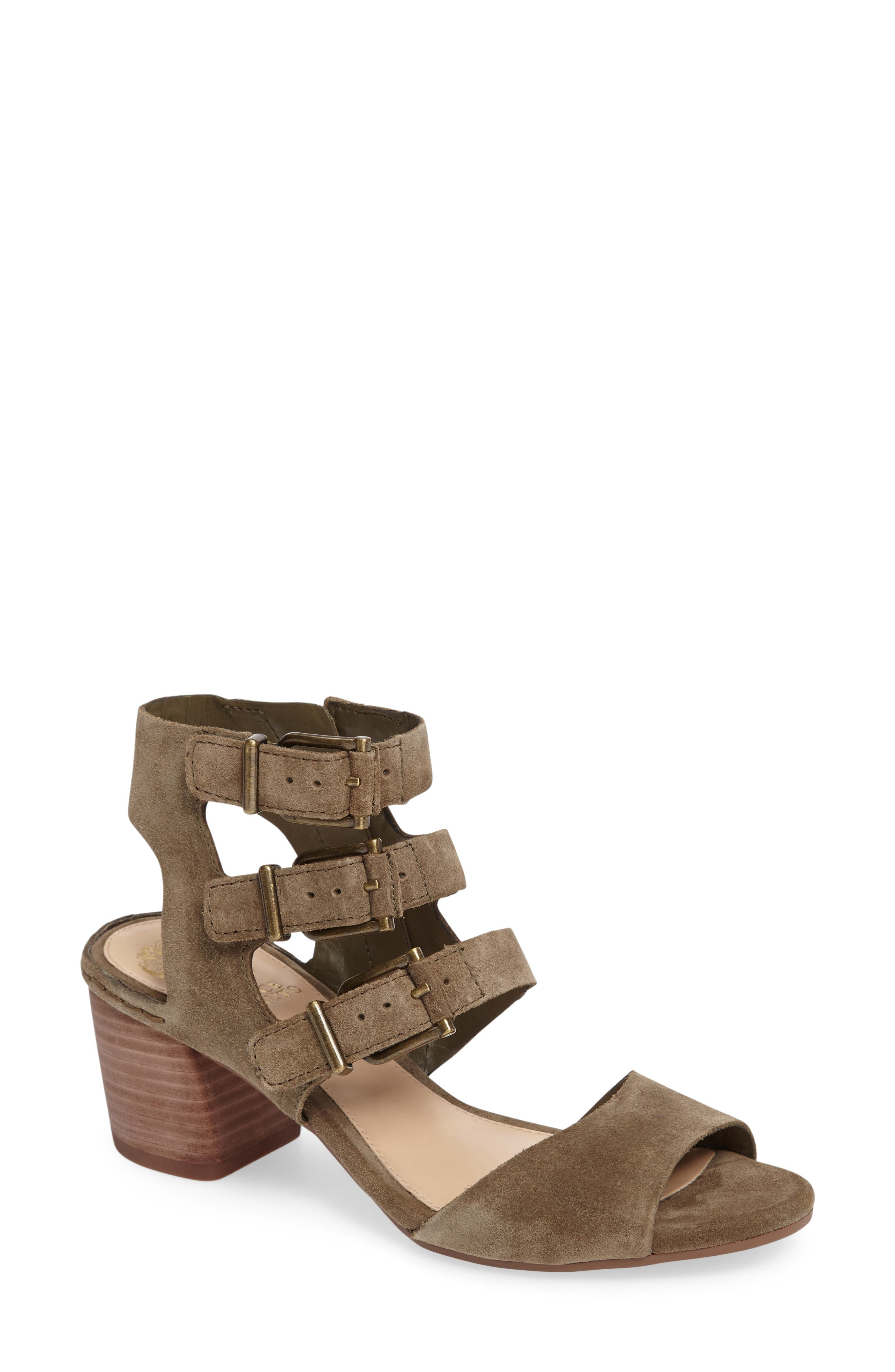 Geriann Strappy Slingback Sandal,                         Main,                         color, Truffle Suede