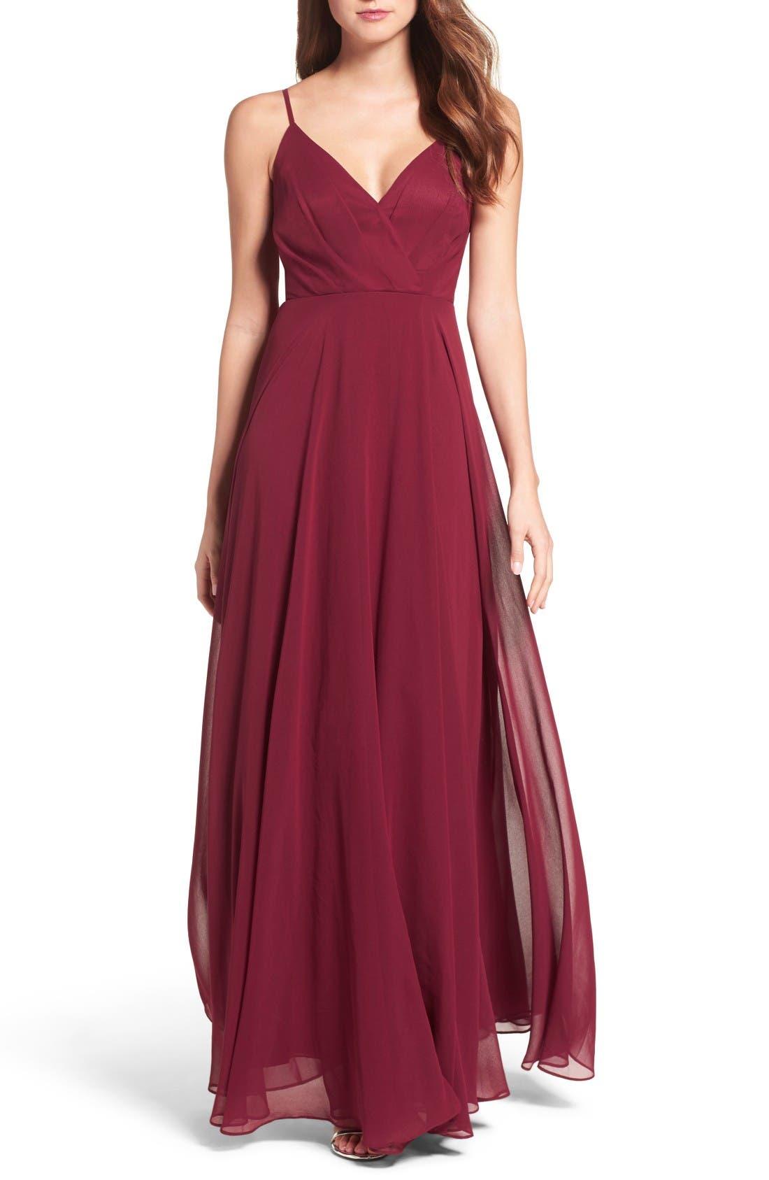Lulus Surplice Chiffon Gown