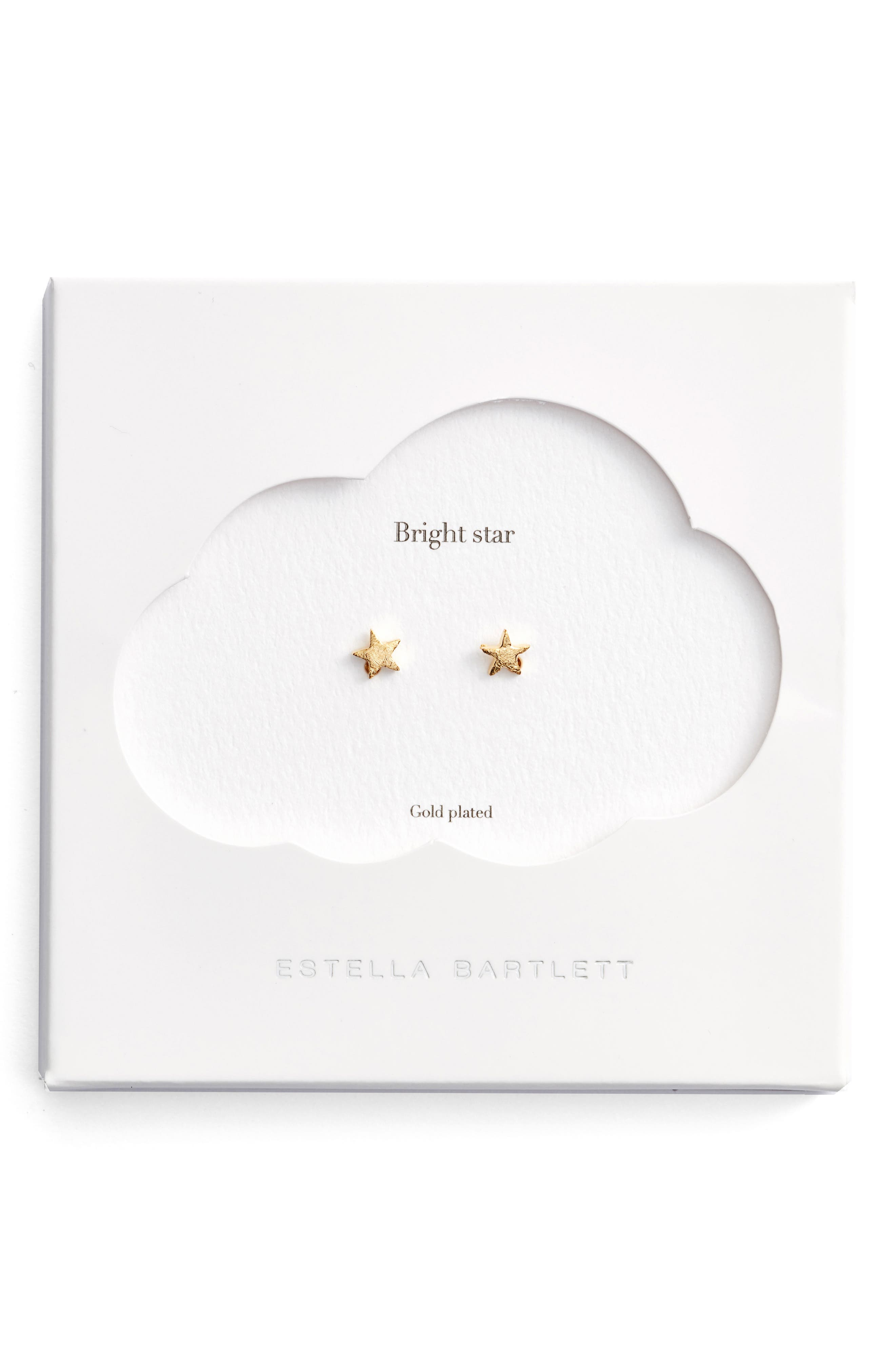 Bright Star Mini Stud Earrings,                         Main,                         color, Gold