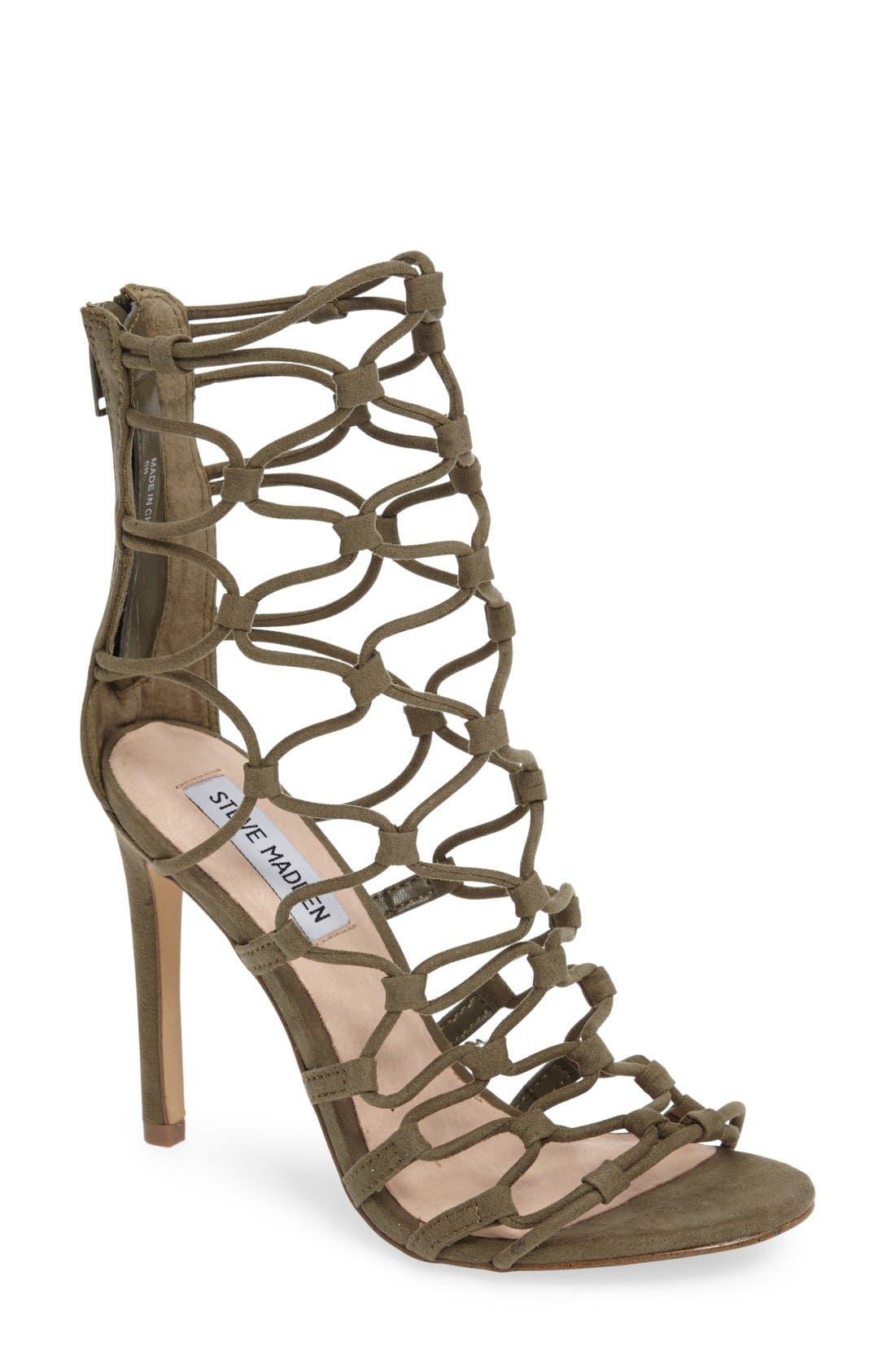 Alternate Image 1 Selected - Steve Madden Mayfair Latticework Tall Sandal (Women)