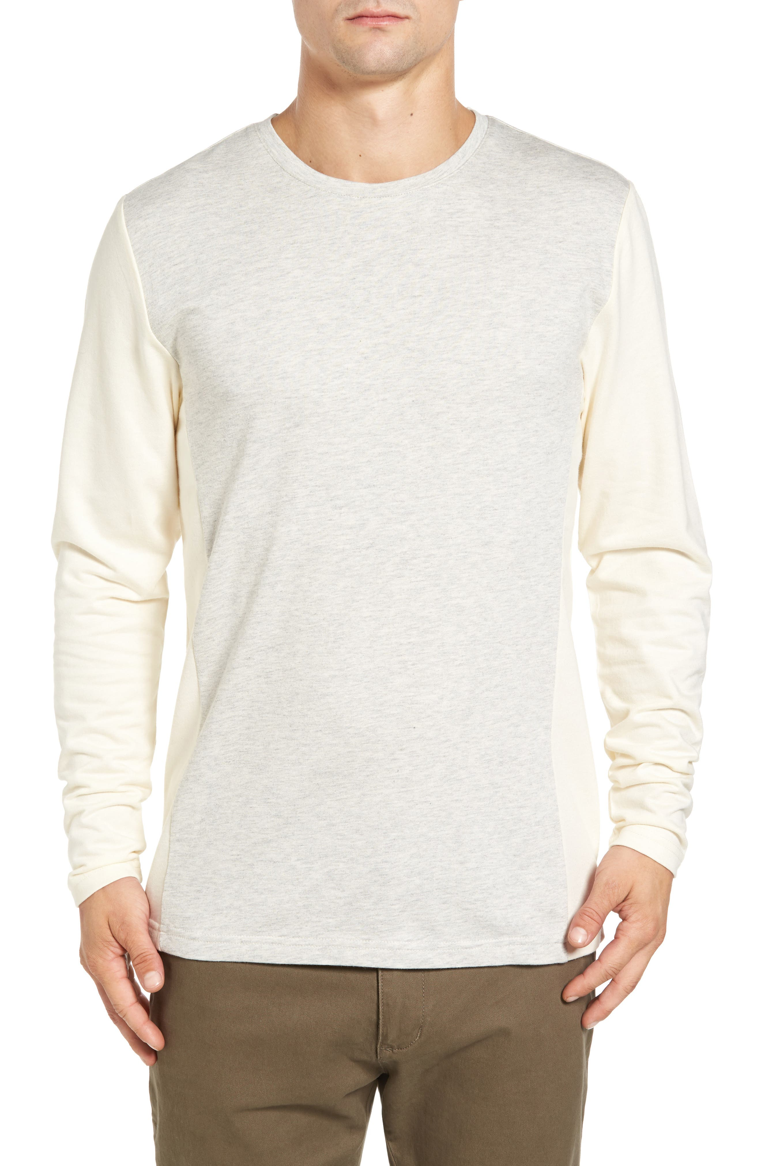 Cut and Sew French Crewneck Shirt,                         Main,                         color, Antique