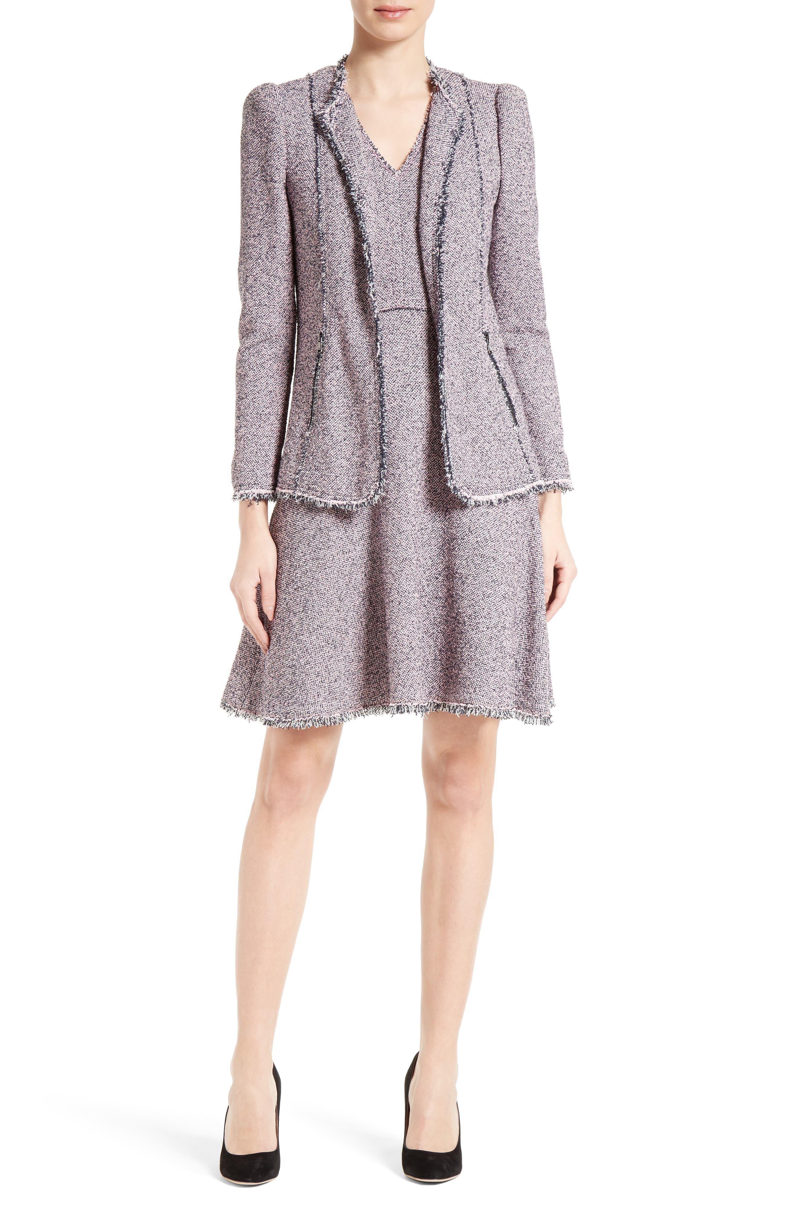 Alternate Image 2  - Rebecca Taylor Stretch Tweed Fit & Flare Dress