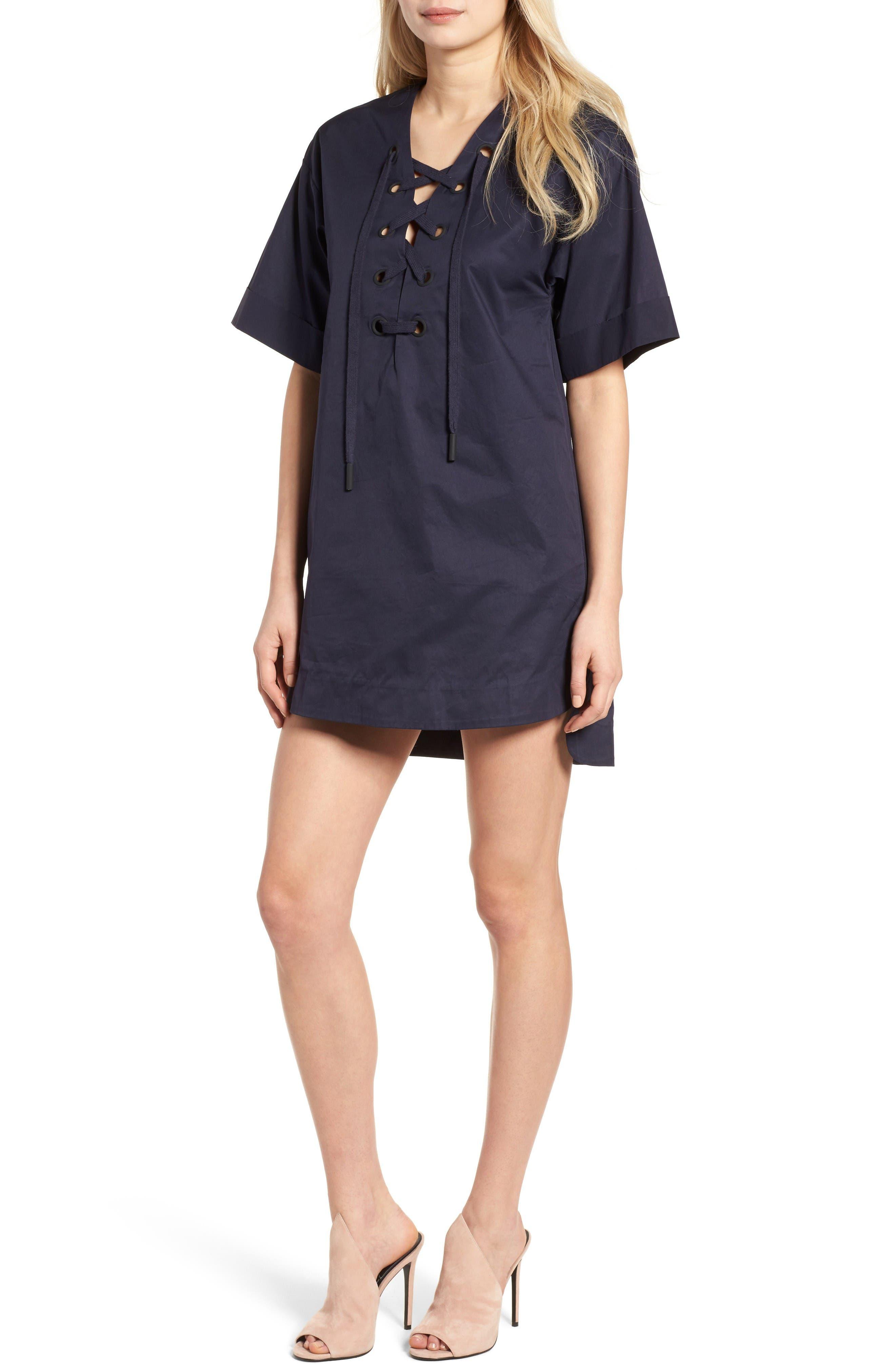KENDALL + KYLIE A-Line Shirtdress