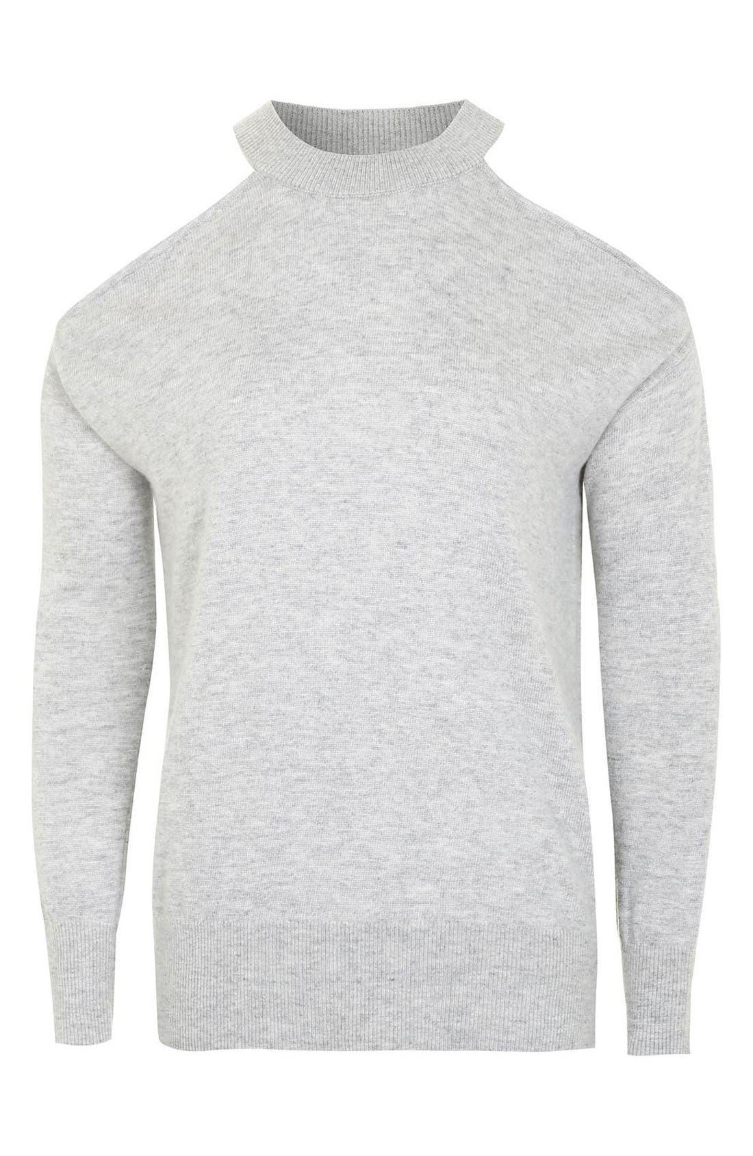 Alternate Image 4  - Topshop Cold Shoulder Sweater