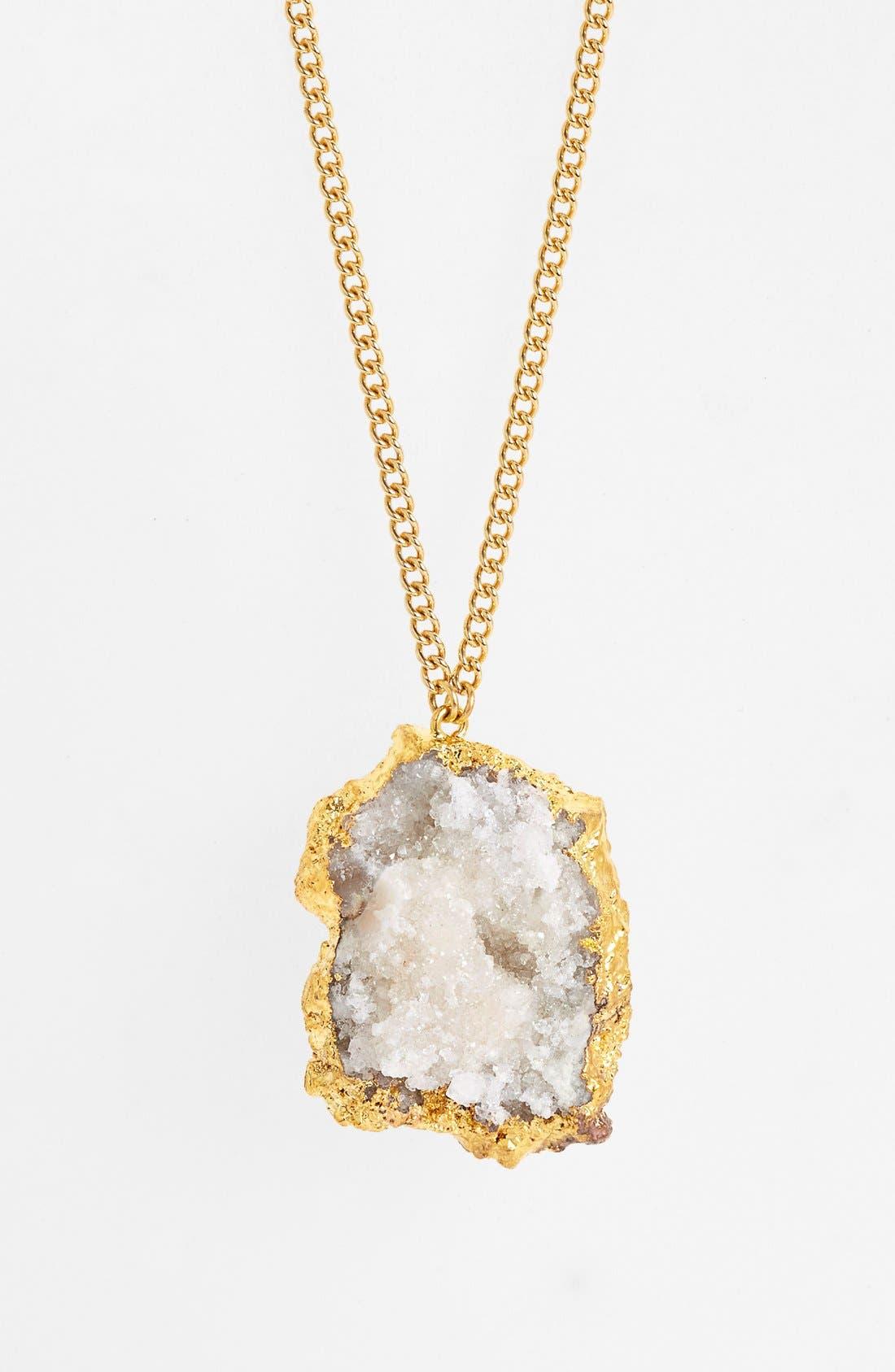 Alternate Image 2  - Nordstrom 'Sorcerer's Stone' Long Drusy Pendant Necklace