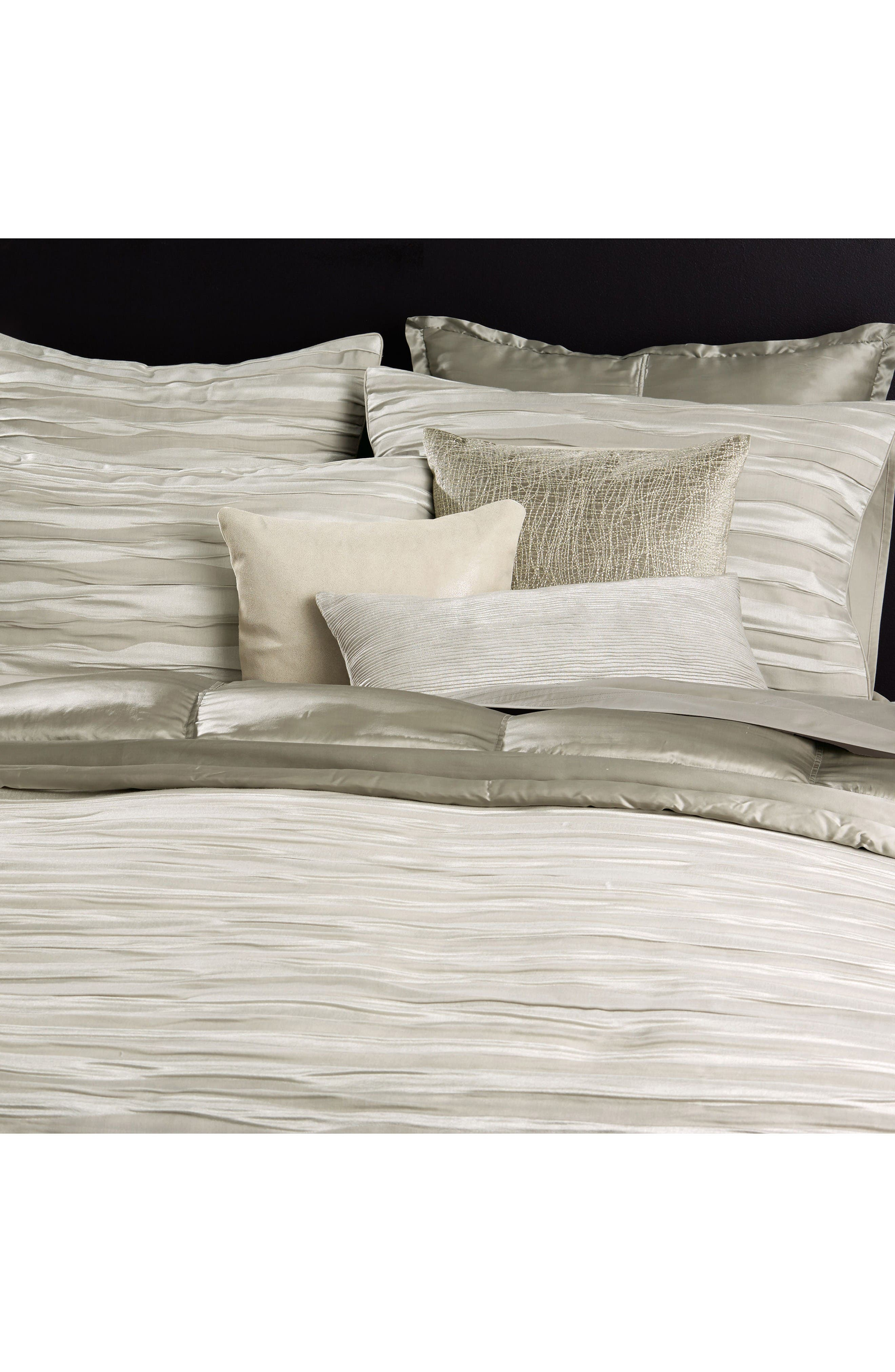 Tidal Accent Pillow,                             Alternate thumbnail 2, color,                             Silver