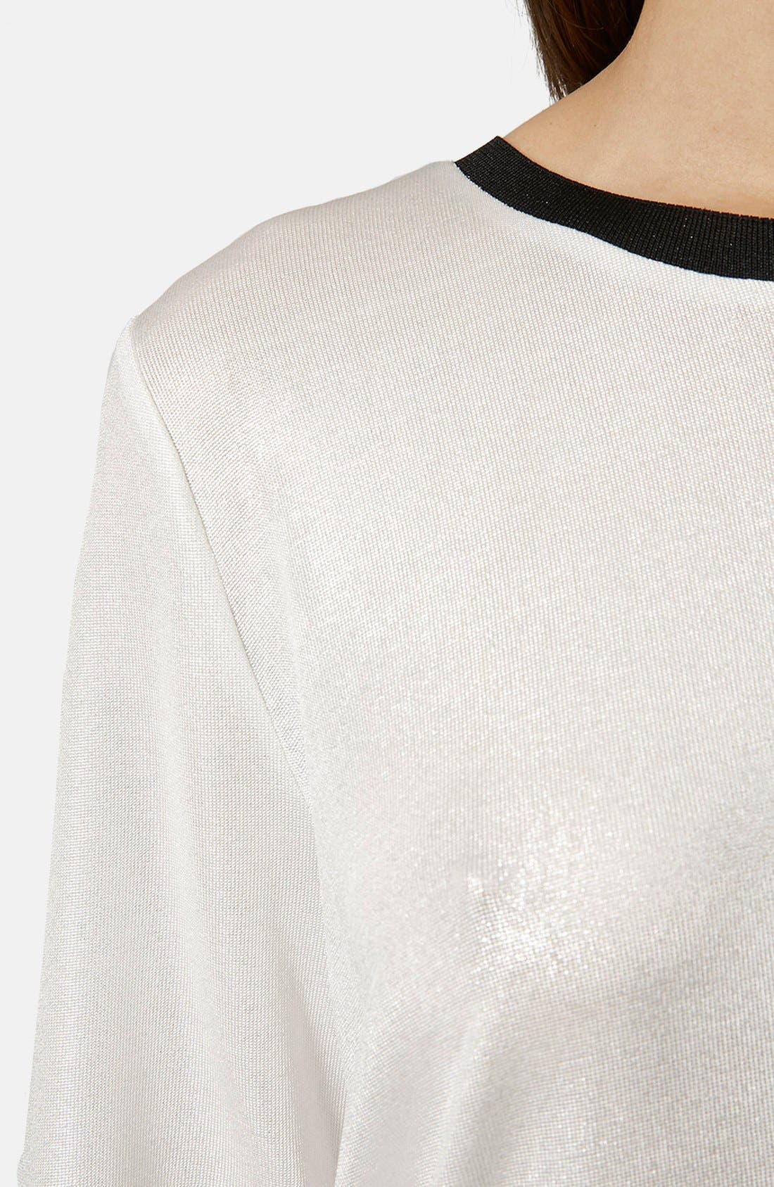 Alternate Image 4  - Topshop Oversize Metallic Tee