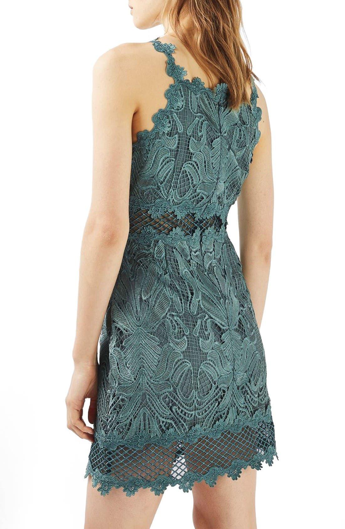 Alternate Image 3  - Topshop Lace Detail Sleeveless A-Line Dress (Regular & Petite)