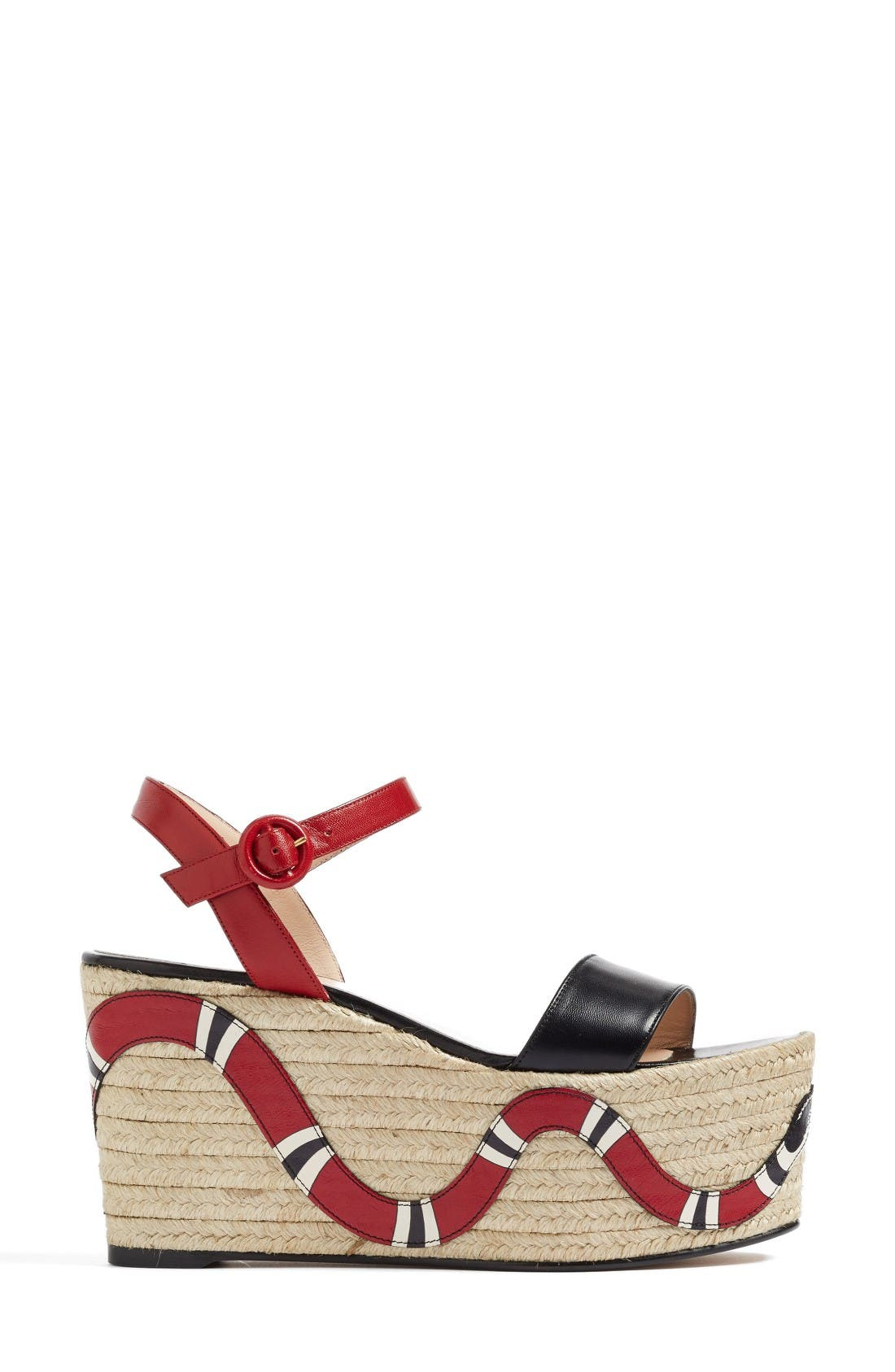 Alternate Image 4  - Gucci Barbette Espadrille Wedge Sandal (Women)
