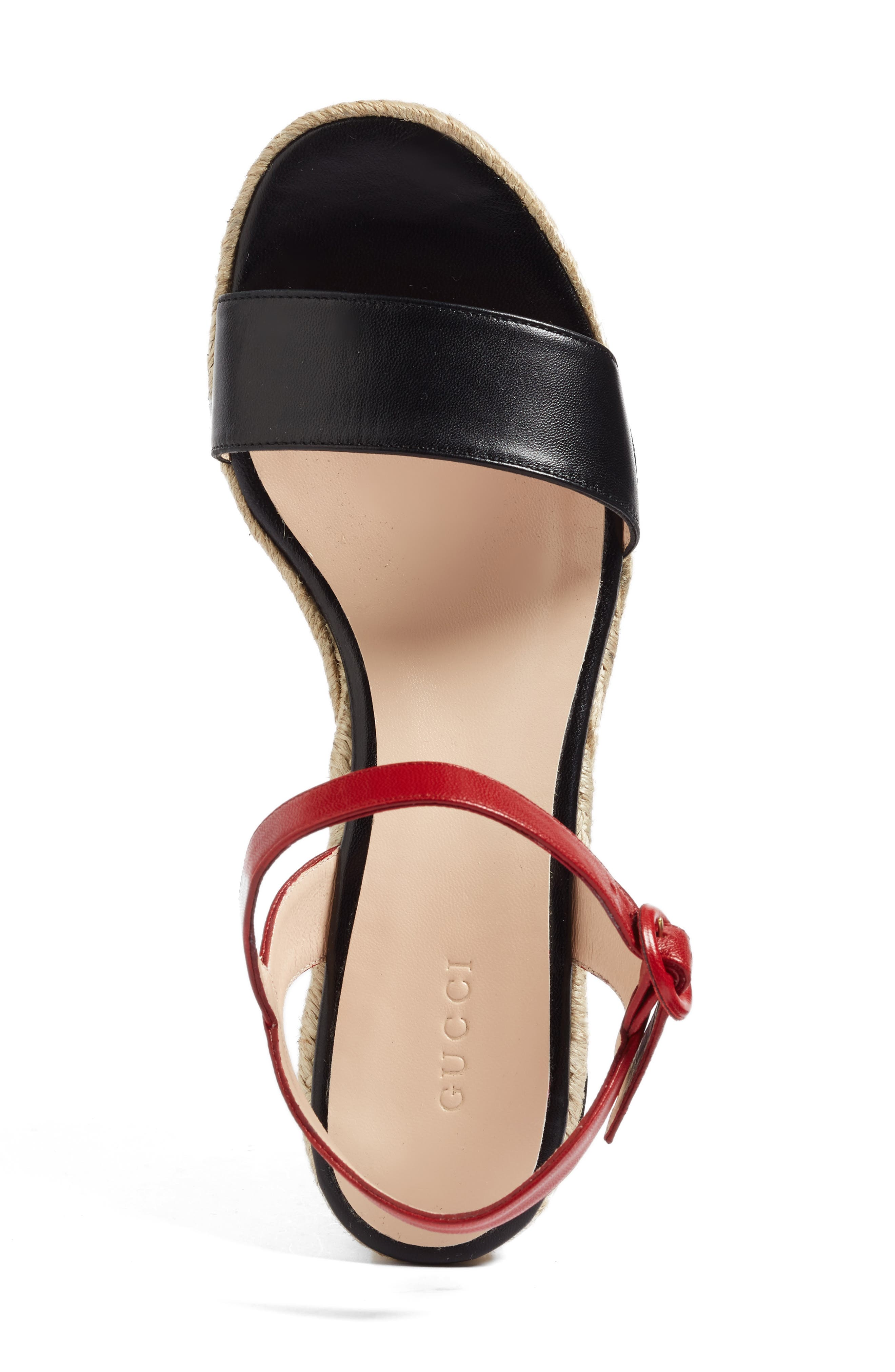 Alternate Image 3  - Gucci Barbette Espadrille Wedge Sandal (Women)