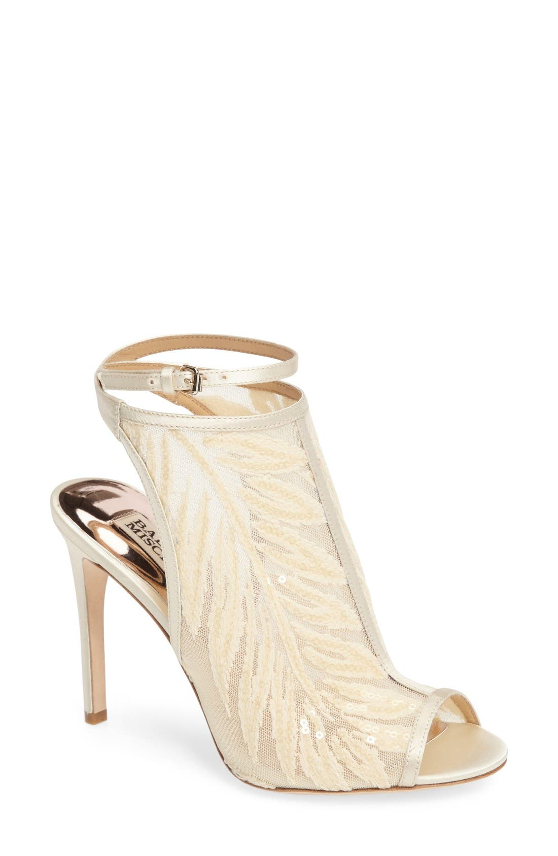 Main Image - Badgley Mischka Blakely Sequin Illusion Sandal (Women)