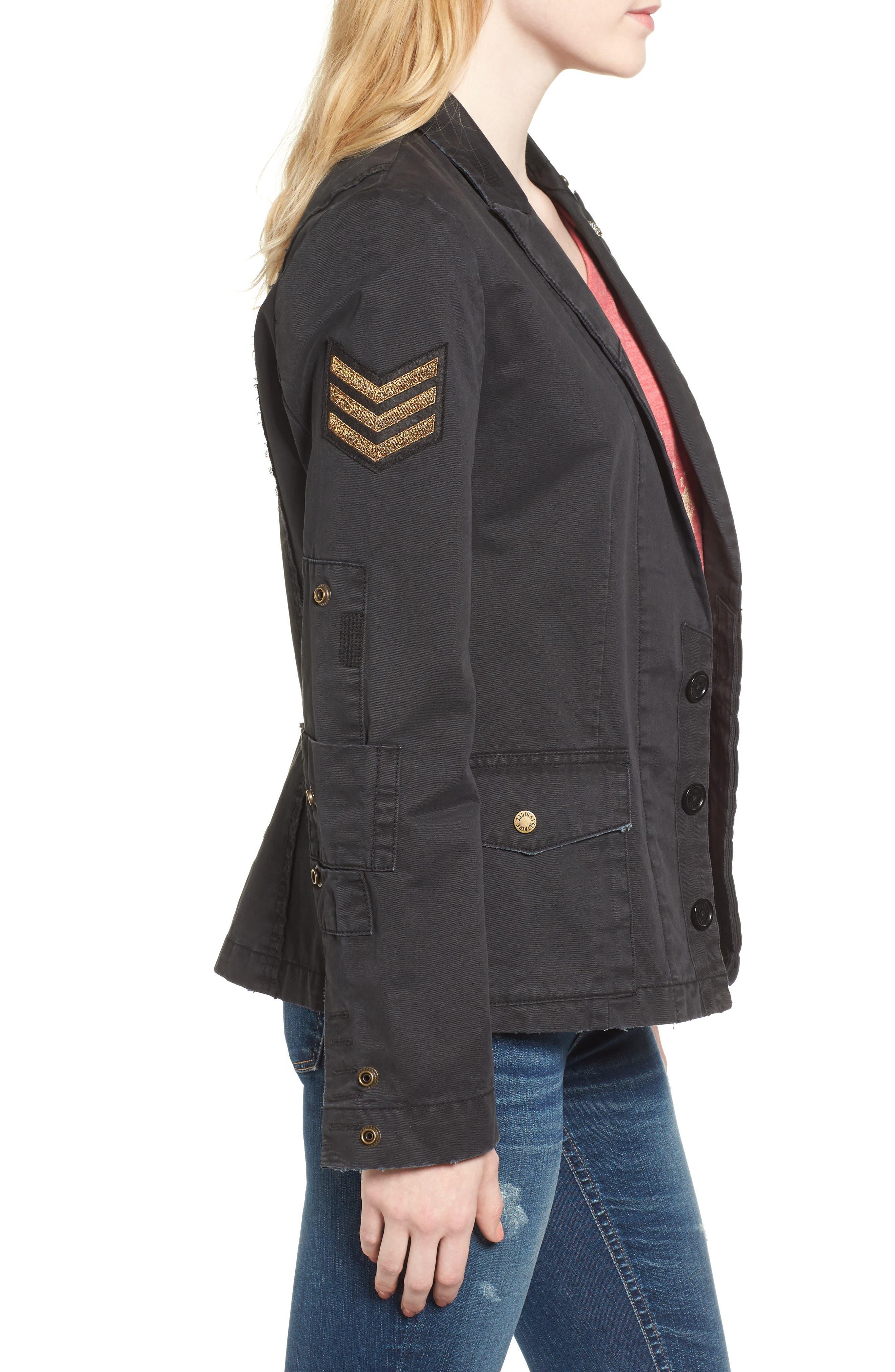 Virginia Jacket,                             Alternate thumbnail 3, color,                             Black