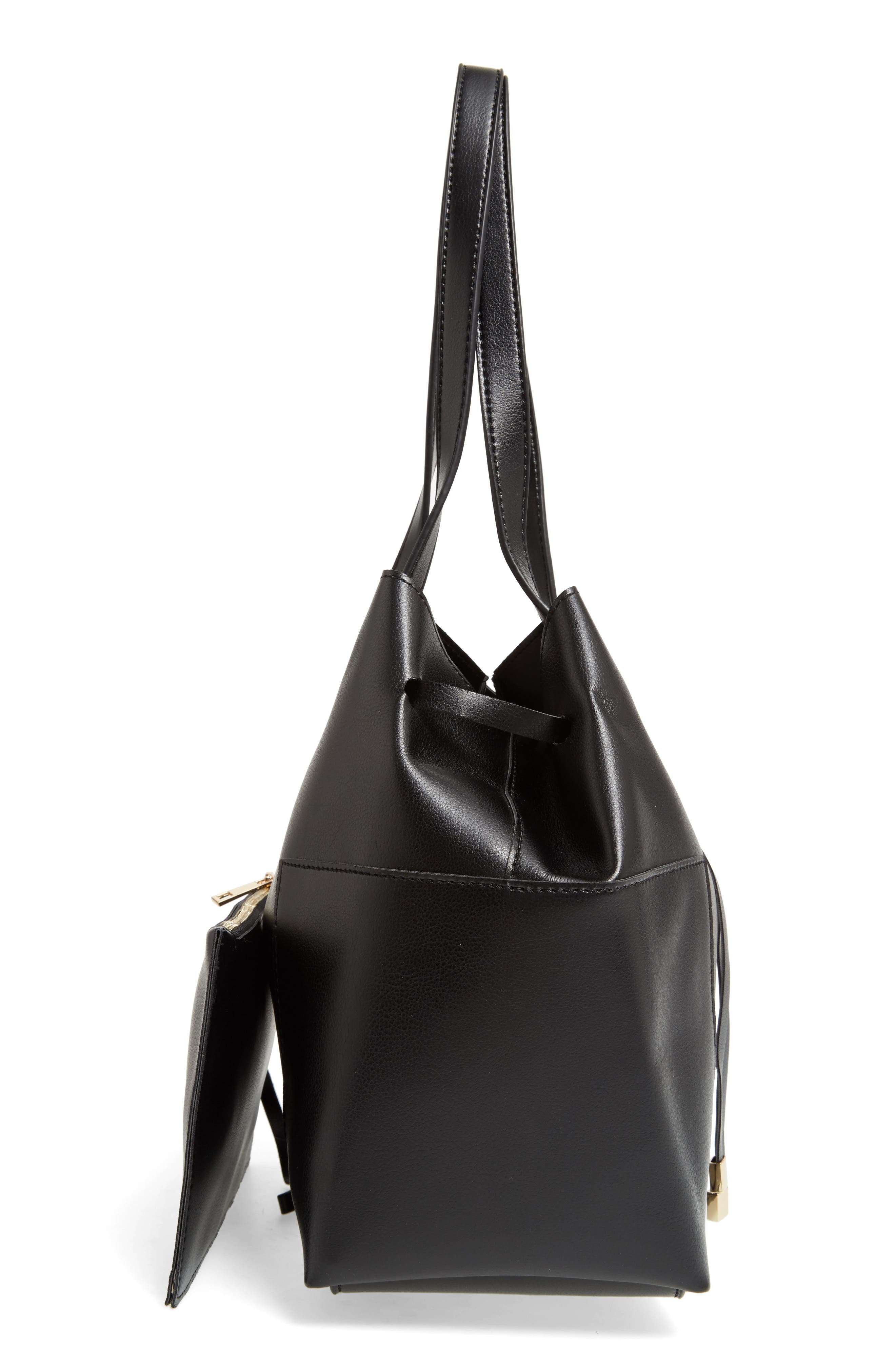 Alternate Image 5  - Sole Society Jocelynn Faux Leather Bucket Bag