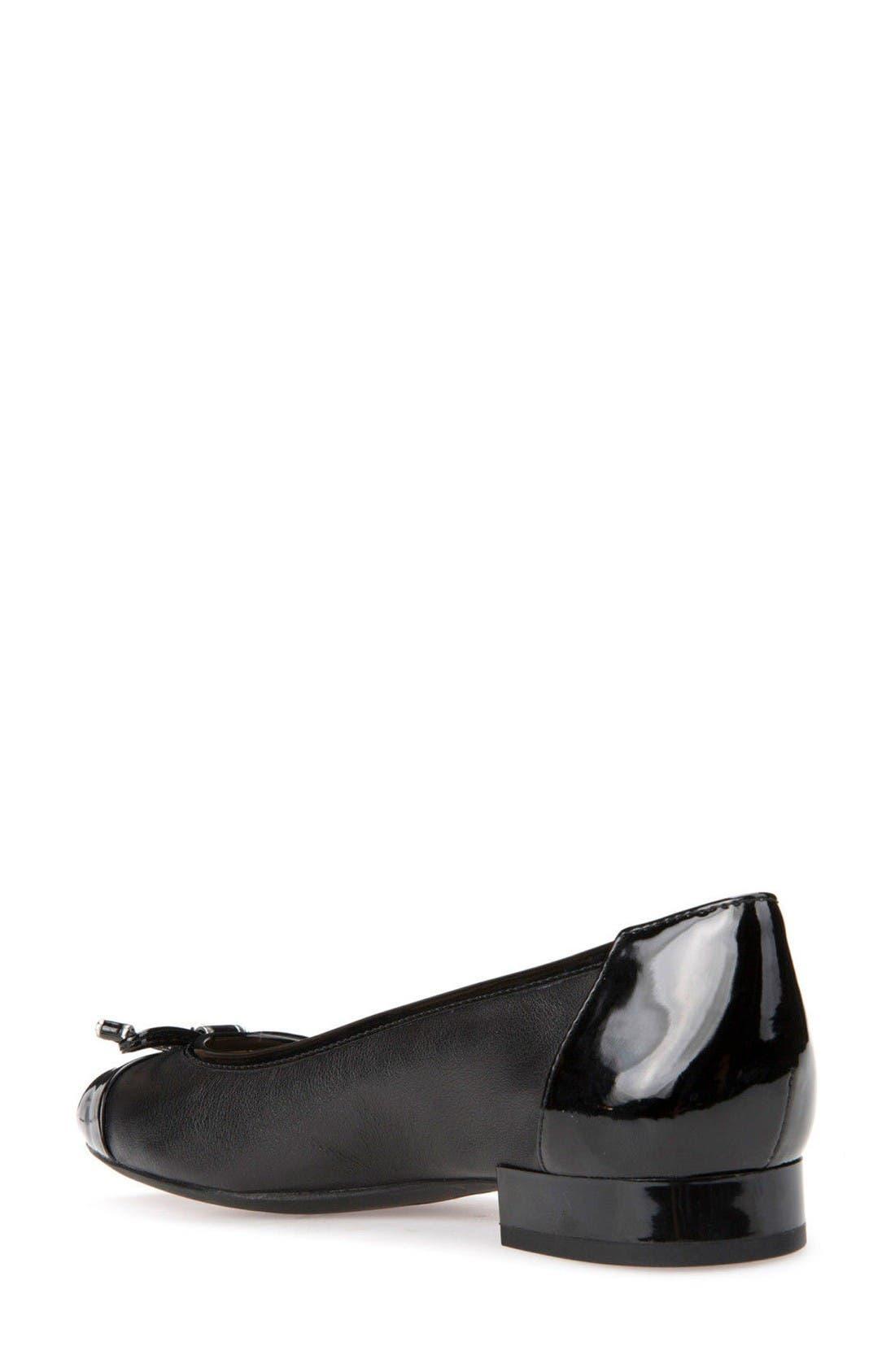 Wistrey Flat,                             Alternate thumbnail 2, color,                             Black Leather