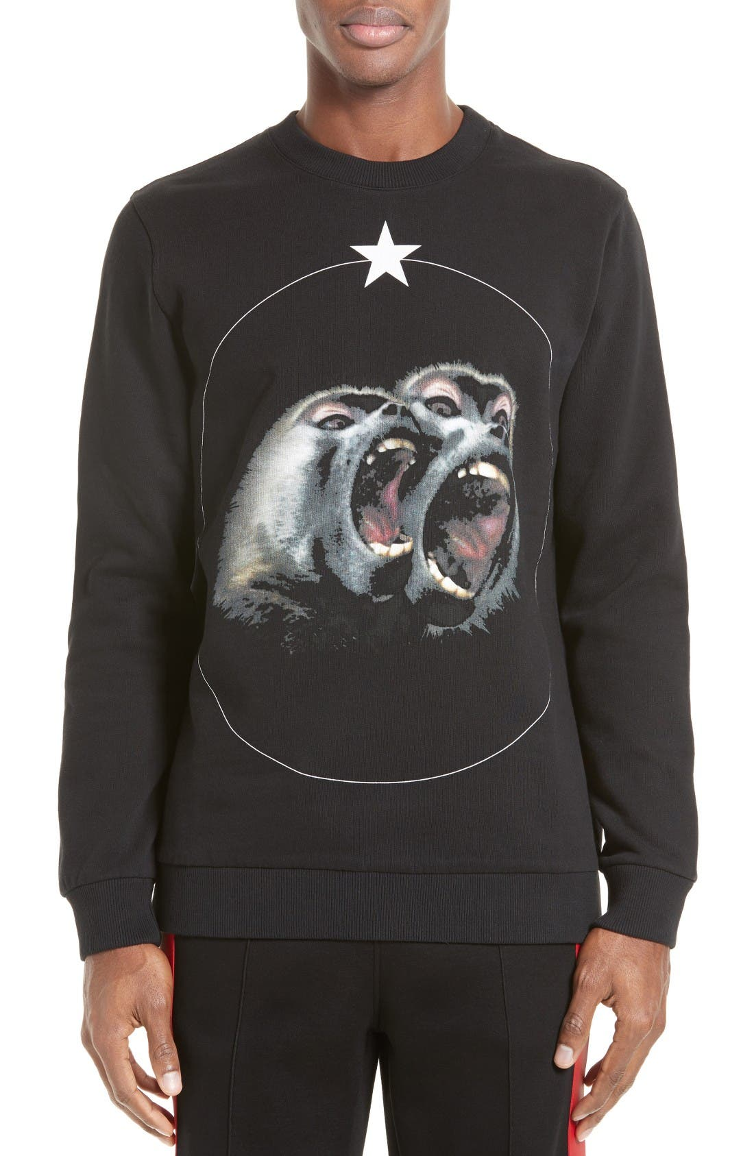 Monkey Brothers Graphic Sweatshirt,                         Main,                         color, Black
