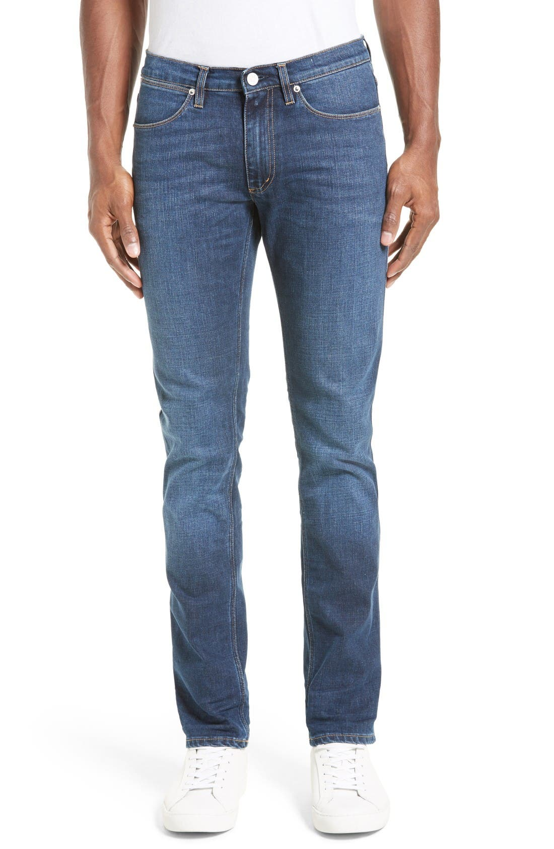 ACNE Studios Max Slim Straight Leg Jeans (Prince Blue)