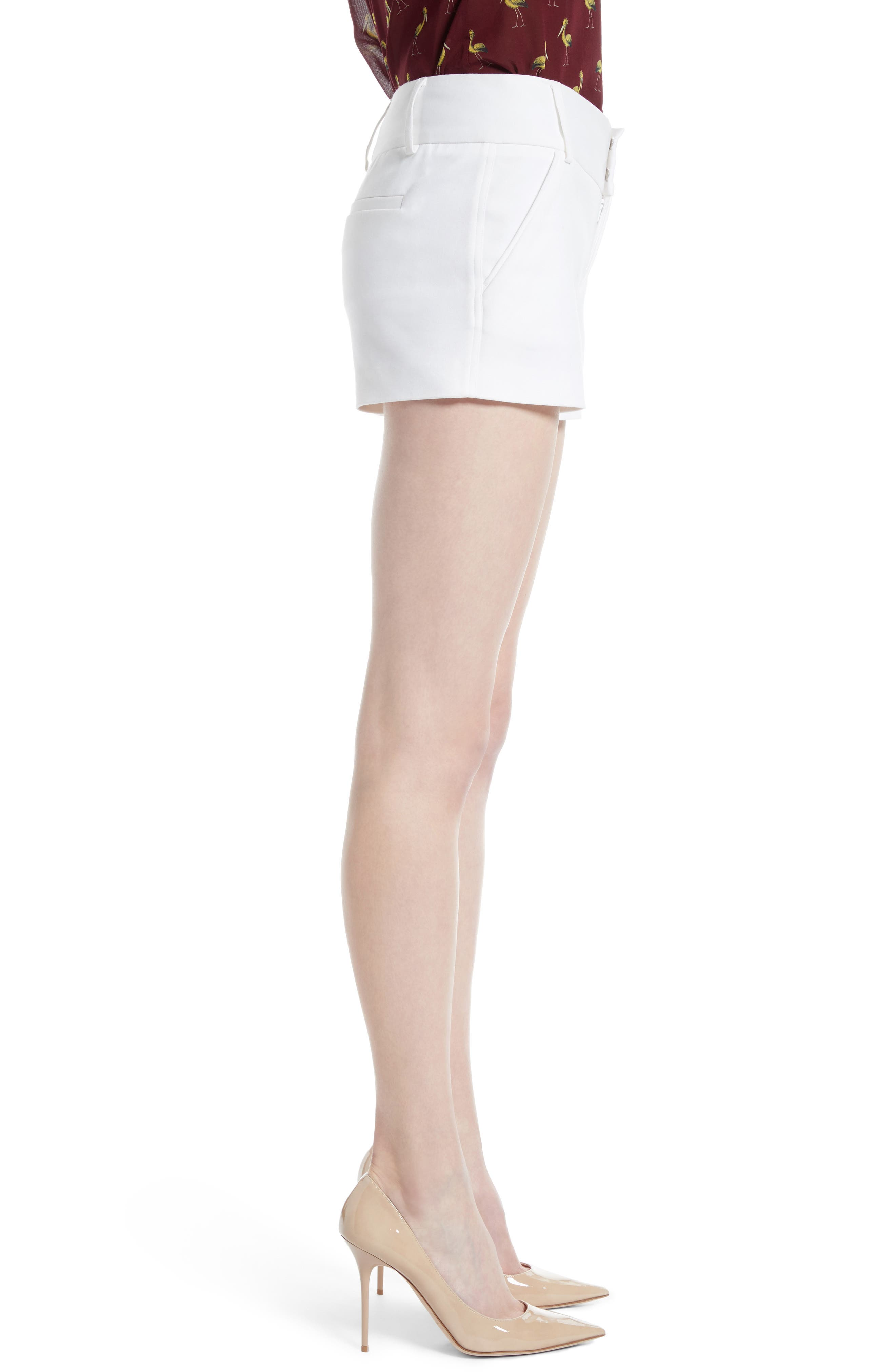 Cady Cotton Blend Shorts,                             Alternate thumbnail 3, color,                             White