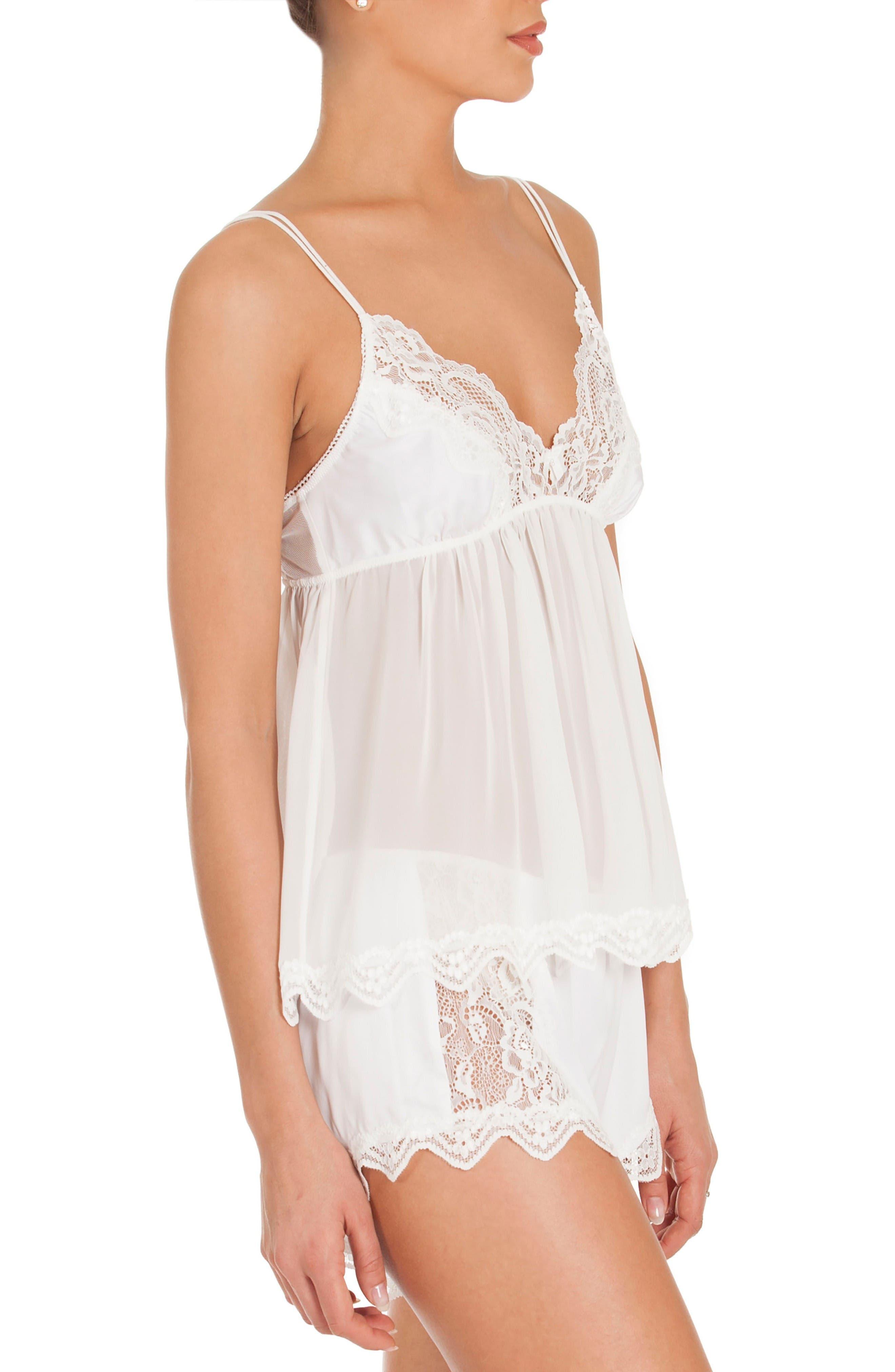 Chiffon Pajamas,                             Alternate thumbnail 3, color,                             Off-White