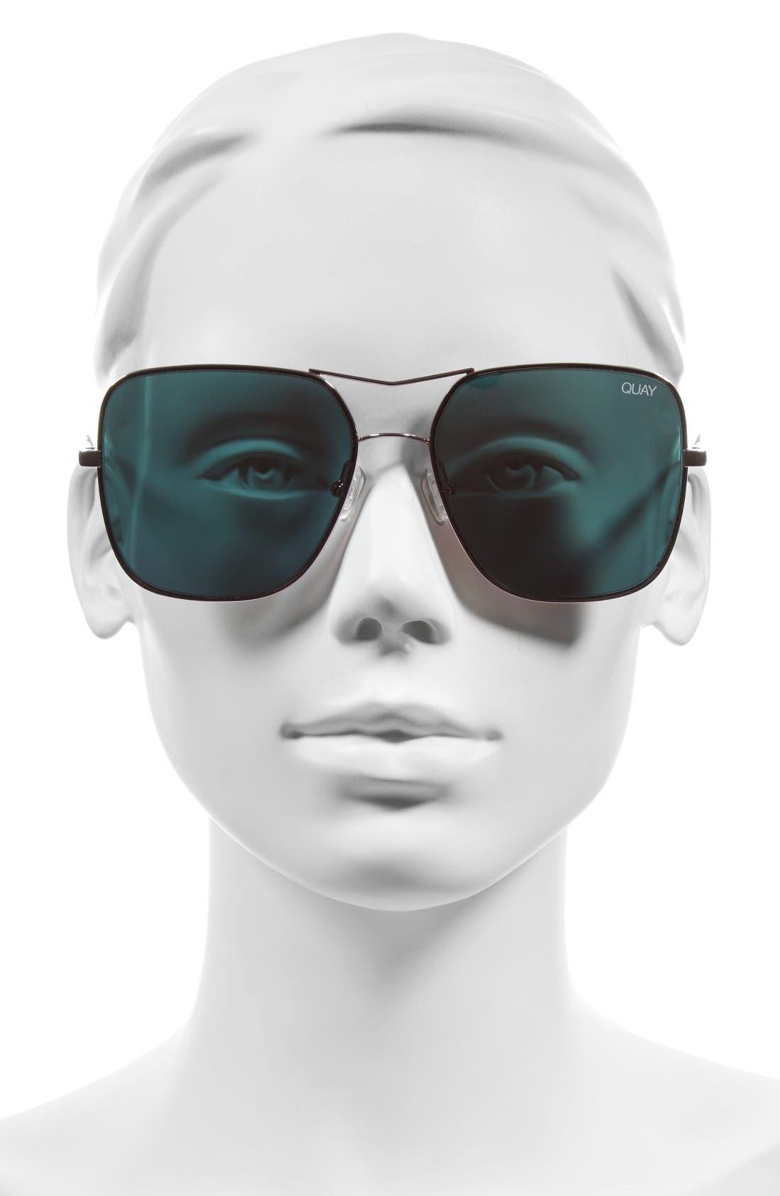 Alternate Image 3  - Quay Australia Stop & Stare 58mm Square Sunglasses