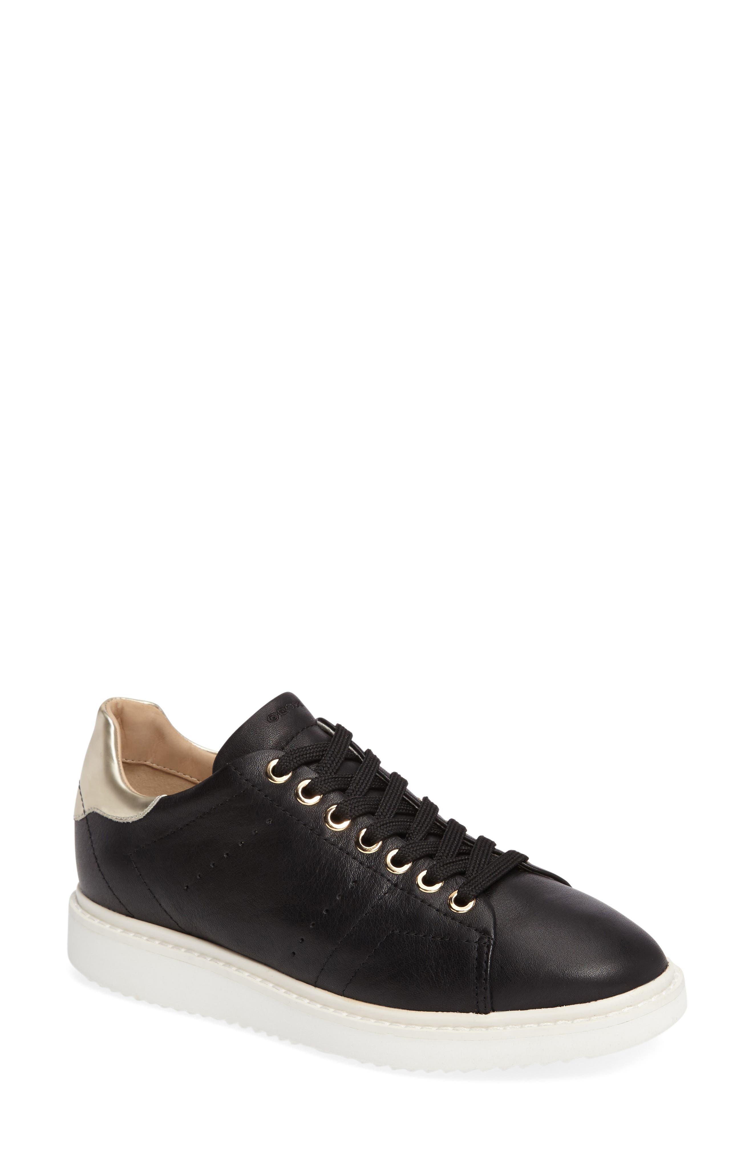 Thymar Sneaker,                         Main,                         color, Black Leather