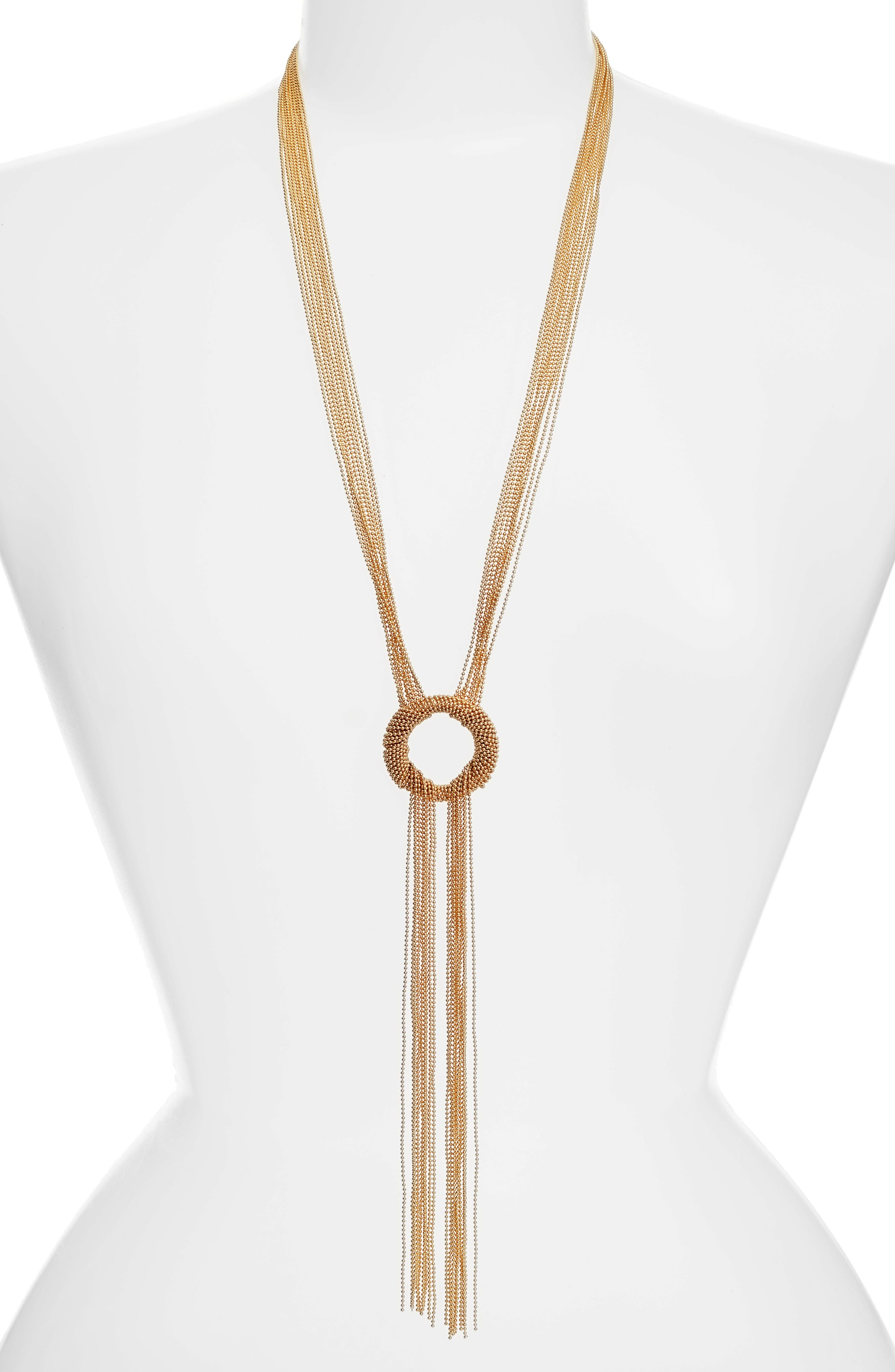 Karine Sultan Jade Tassel Y-Necklace